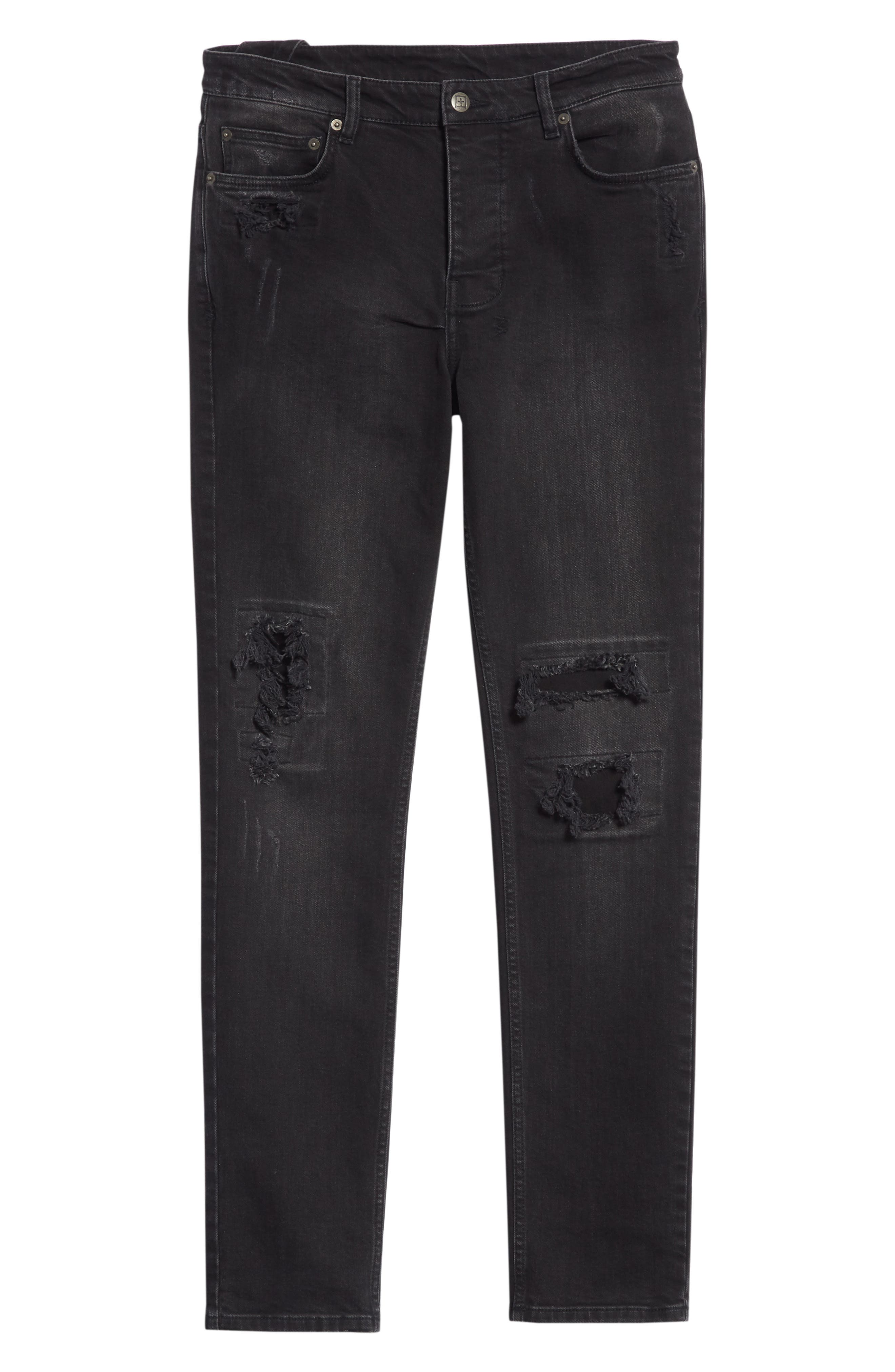 Chitch Boneyard Skinny Fit Jeans,                             Alternate thumbnail 6, color,                             BLACK