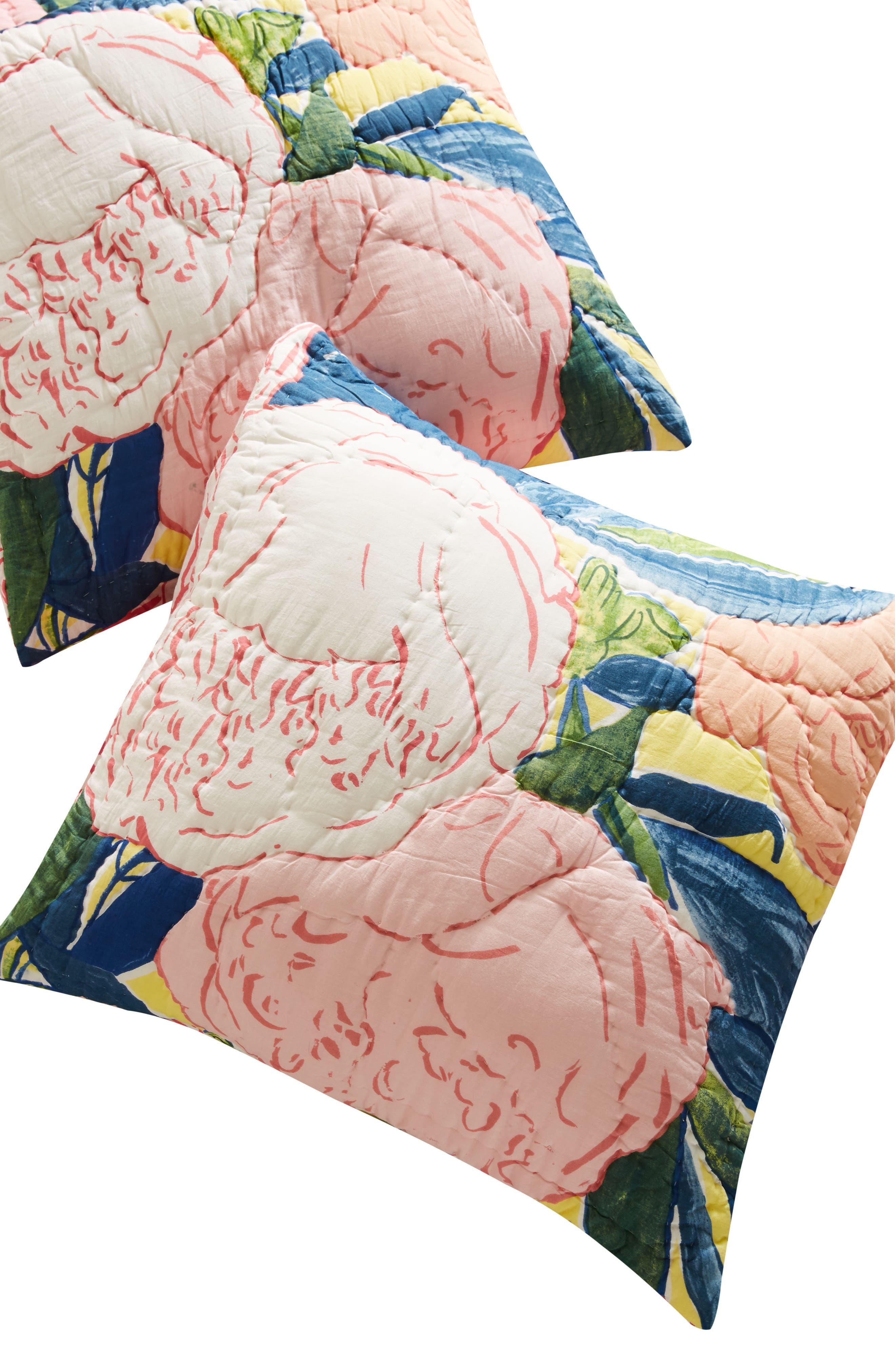 Paint + Petals Euro Sham,                             Alternate thumbnail 2, color,