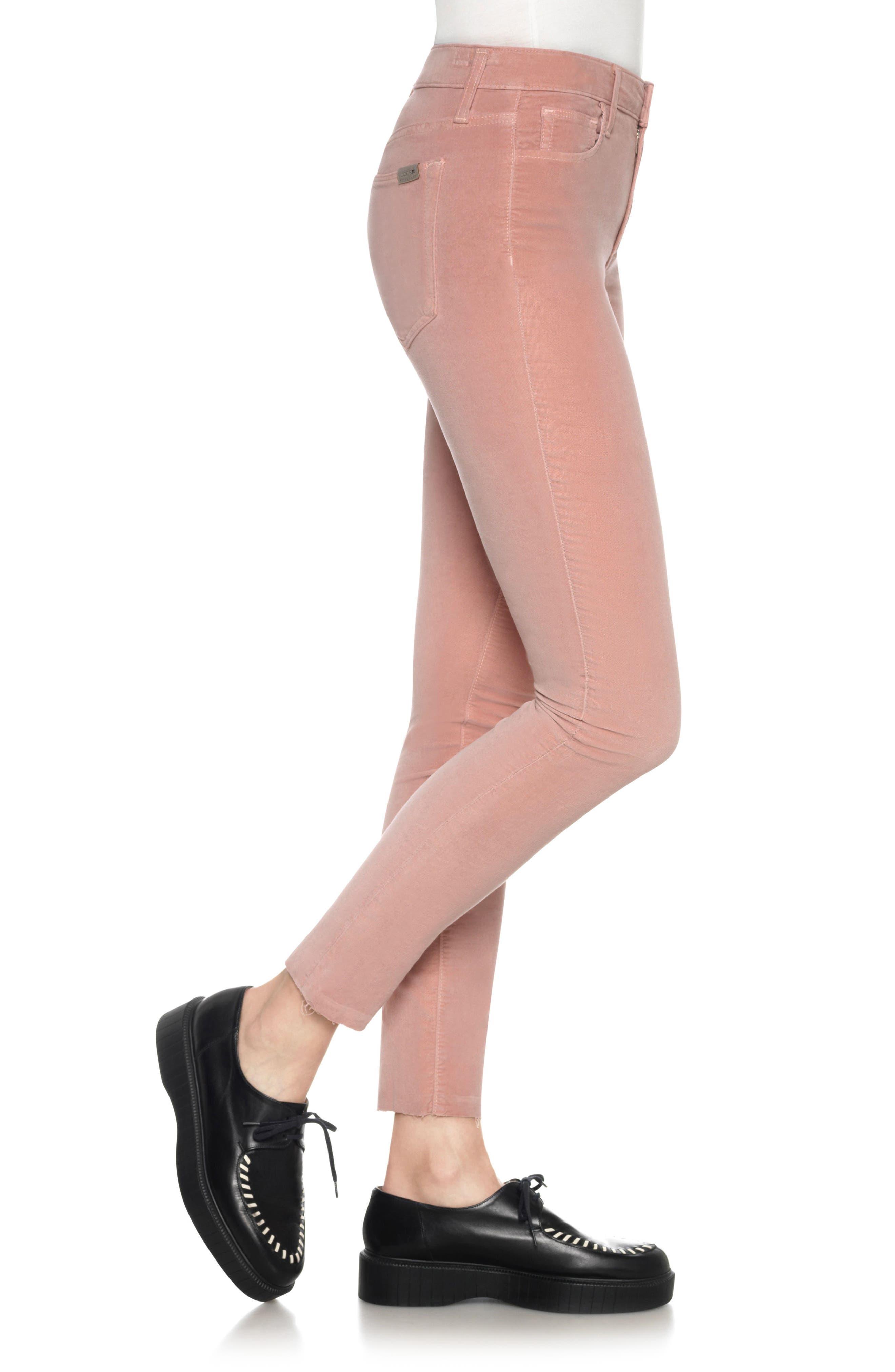 Icon Velvet Ankle Skinny Pants,                             Alternate thumbnail 13, color,