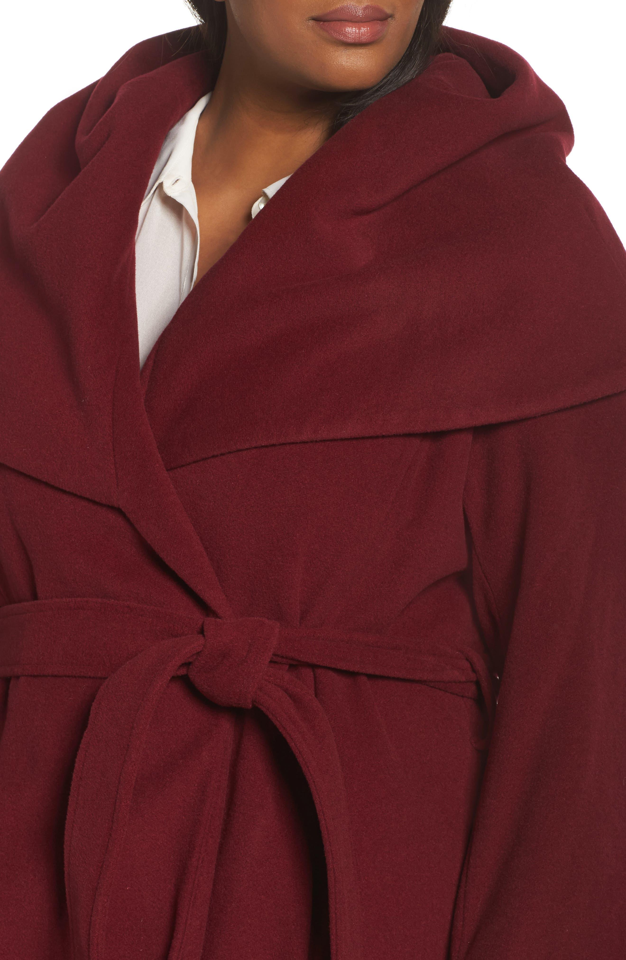 Marla Cutaway Wrap Coat with Oversize Collar,                             Alternate thumbnail 14, color,