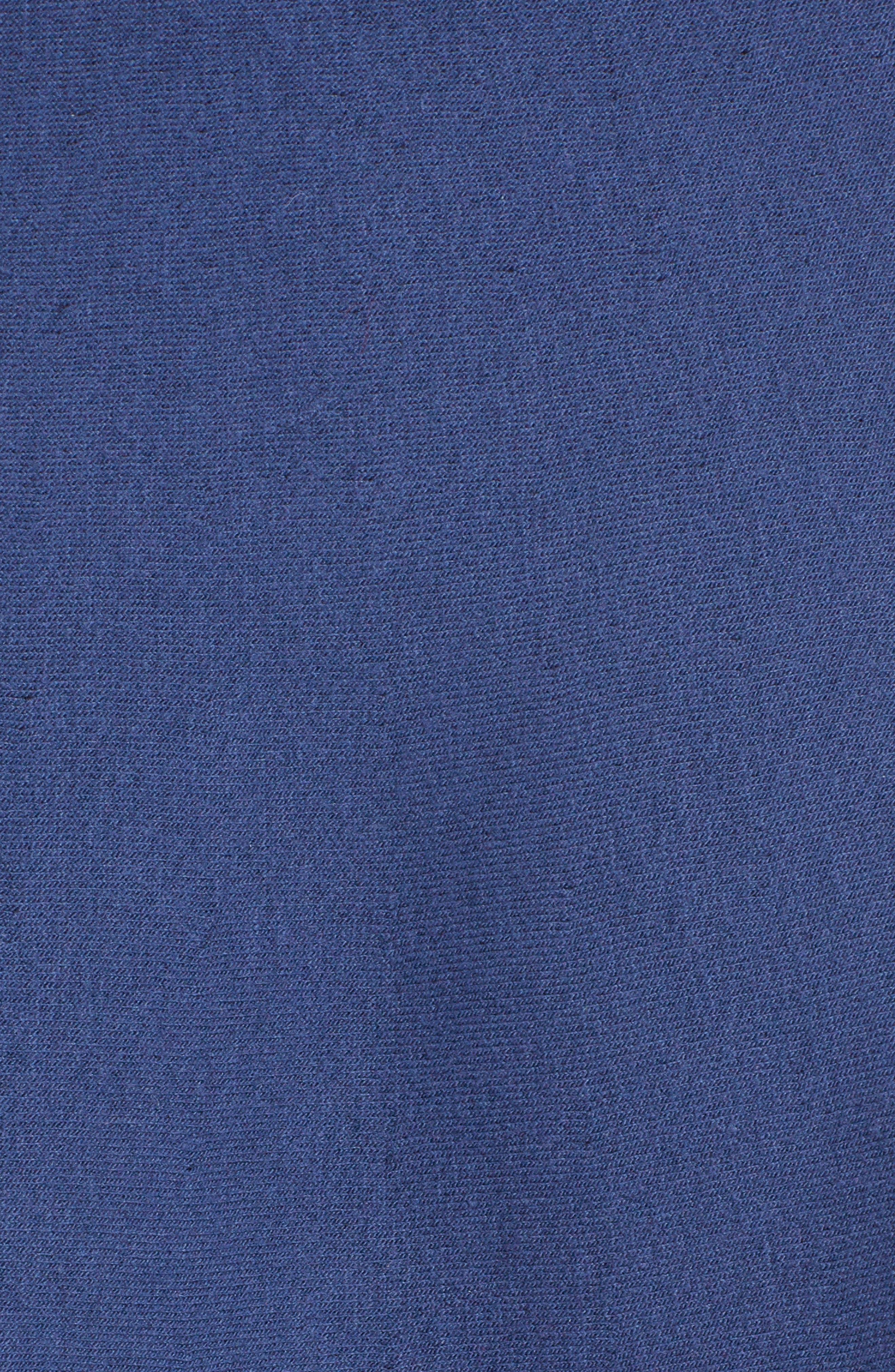 Cutout Heart Reversible Fit & Flare Dress,                             Alternate thumbnail 5, color,                             BLUE