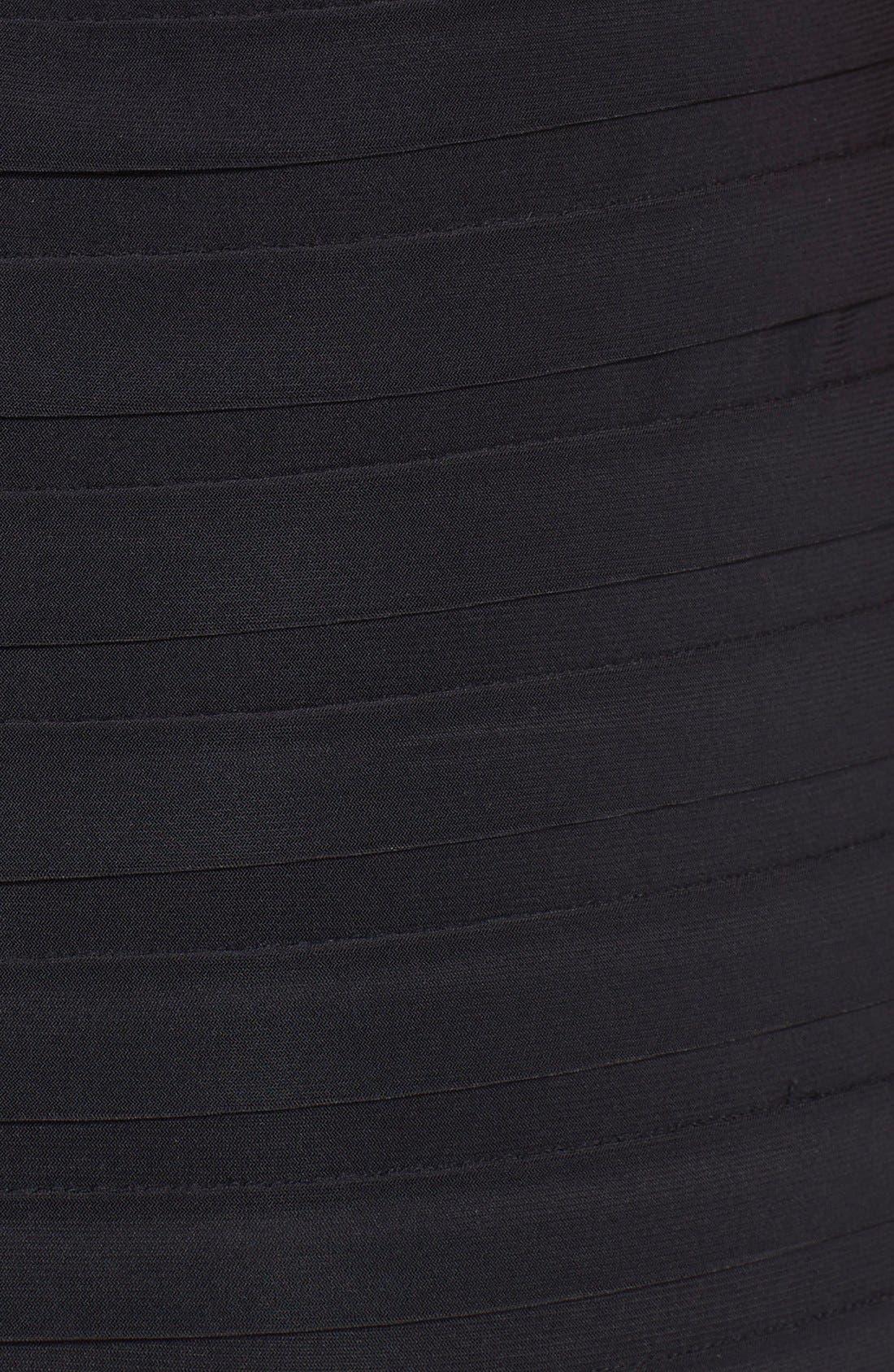 Pleated Jersey Blouson Dress,                             Alternate thumbnail 5, color,                             001