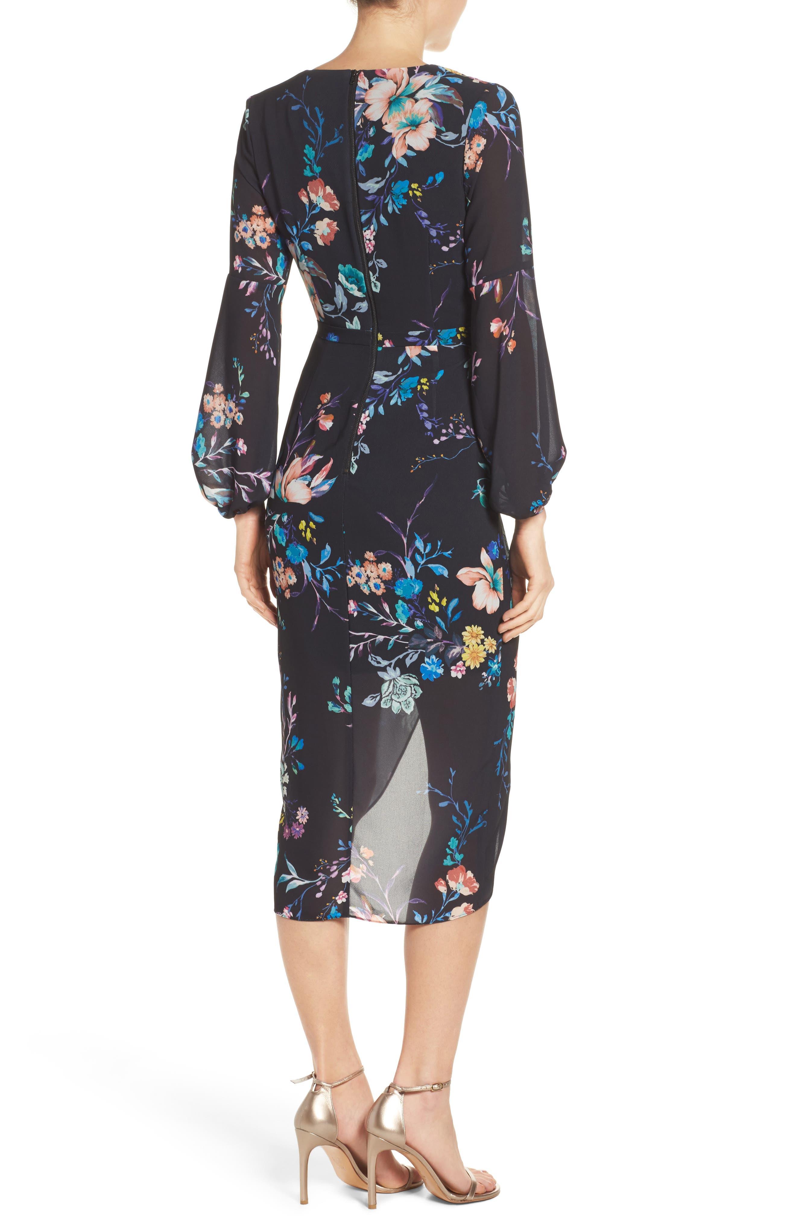 Romanticise Midi Dress,                             Alternate thumbnail 4, color,