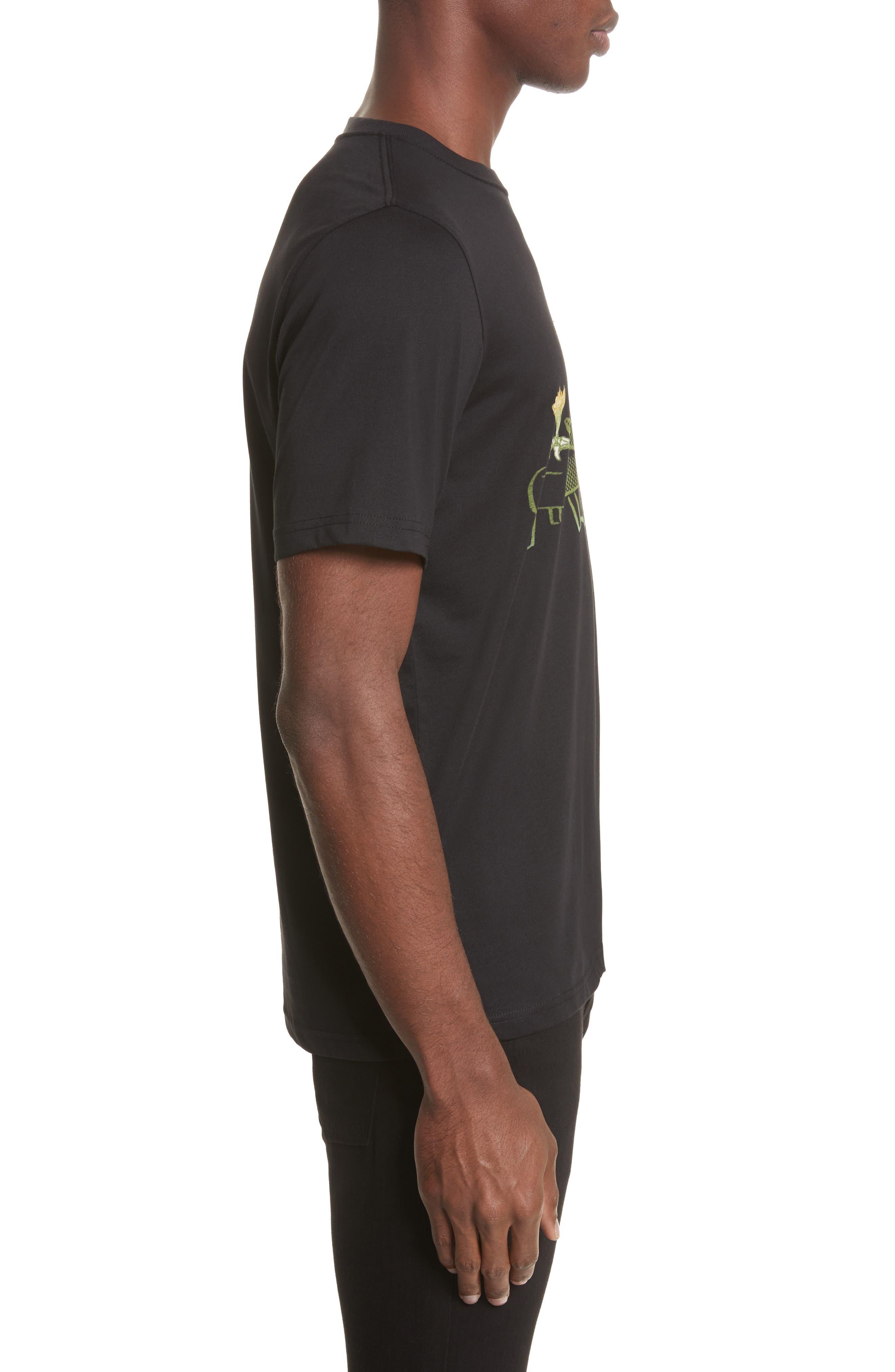12oz Skeleton Graphic T-Shirt,                             Alternate thumbnail 3, color,                             001