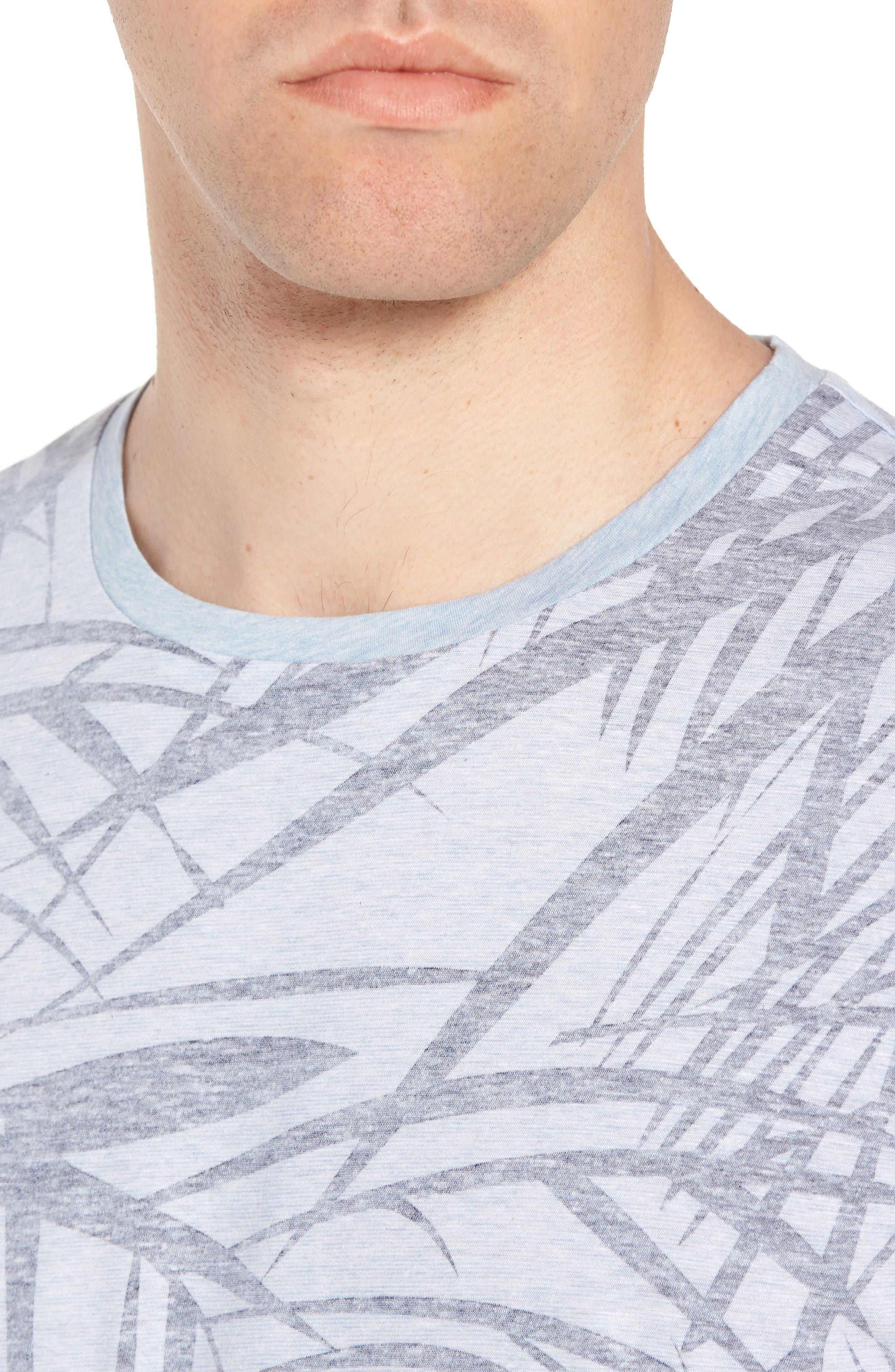 Tessler Crewneck T-Shirt,                             Alternate thumbnail 4, color,                             BLUE