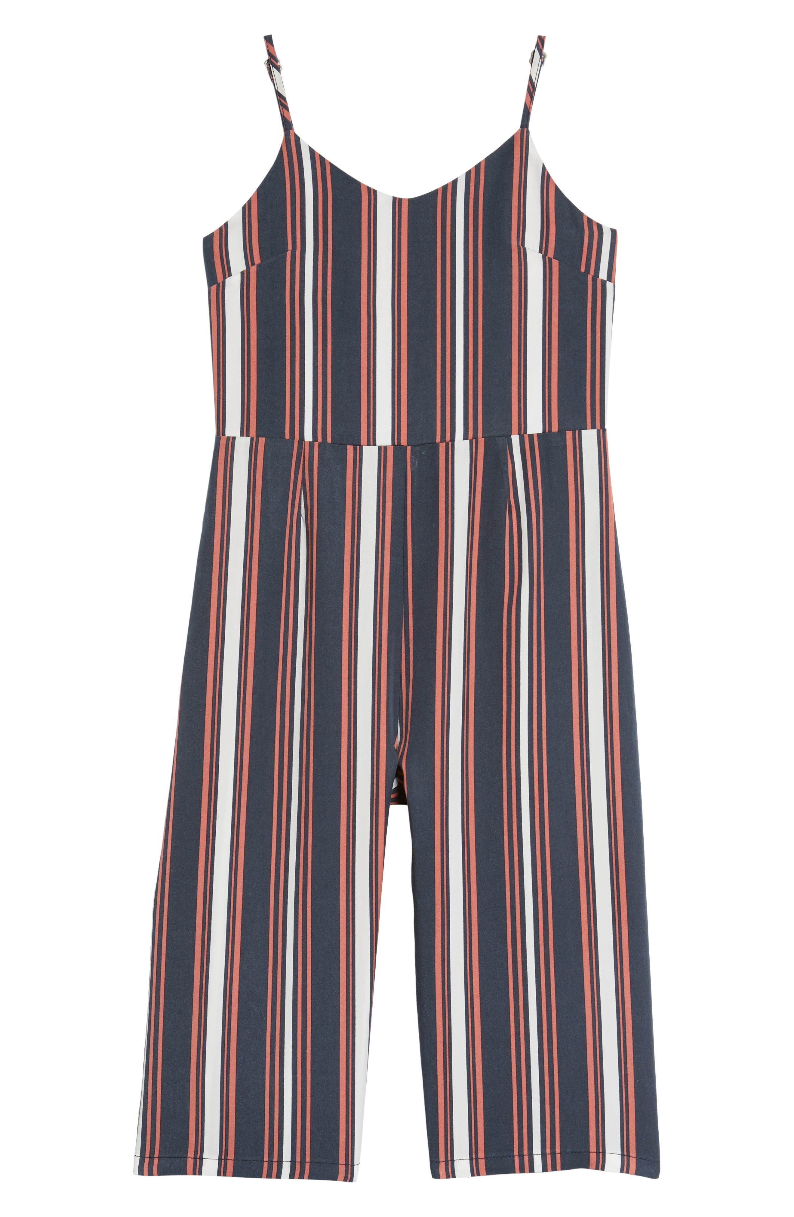 Stripe Wide Leg Romper,                             Main thumbnail 1, color,                             410
