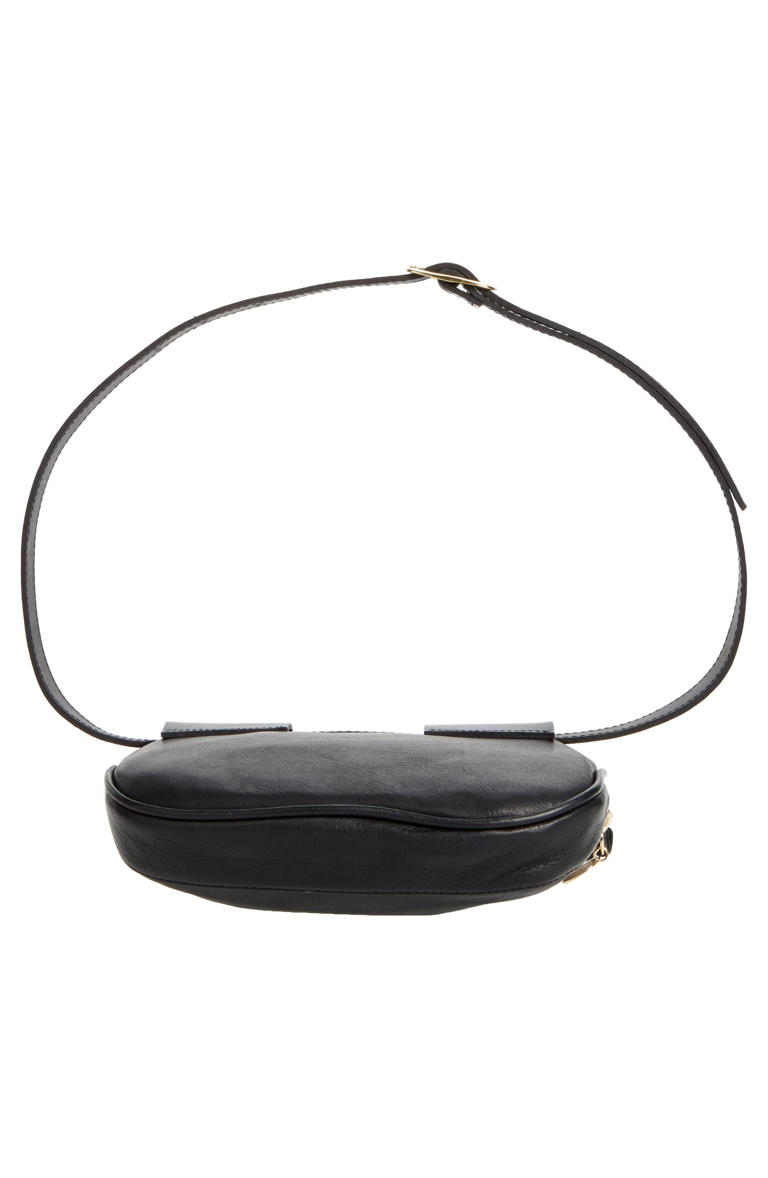 Leather Fanny Pack,                             Alternate thumbnail 12, color,