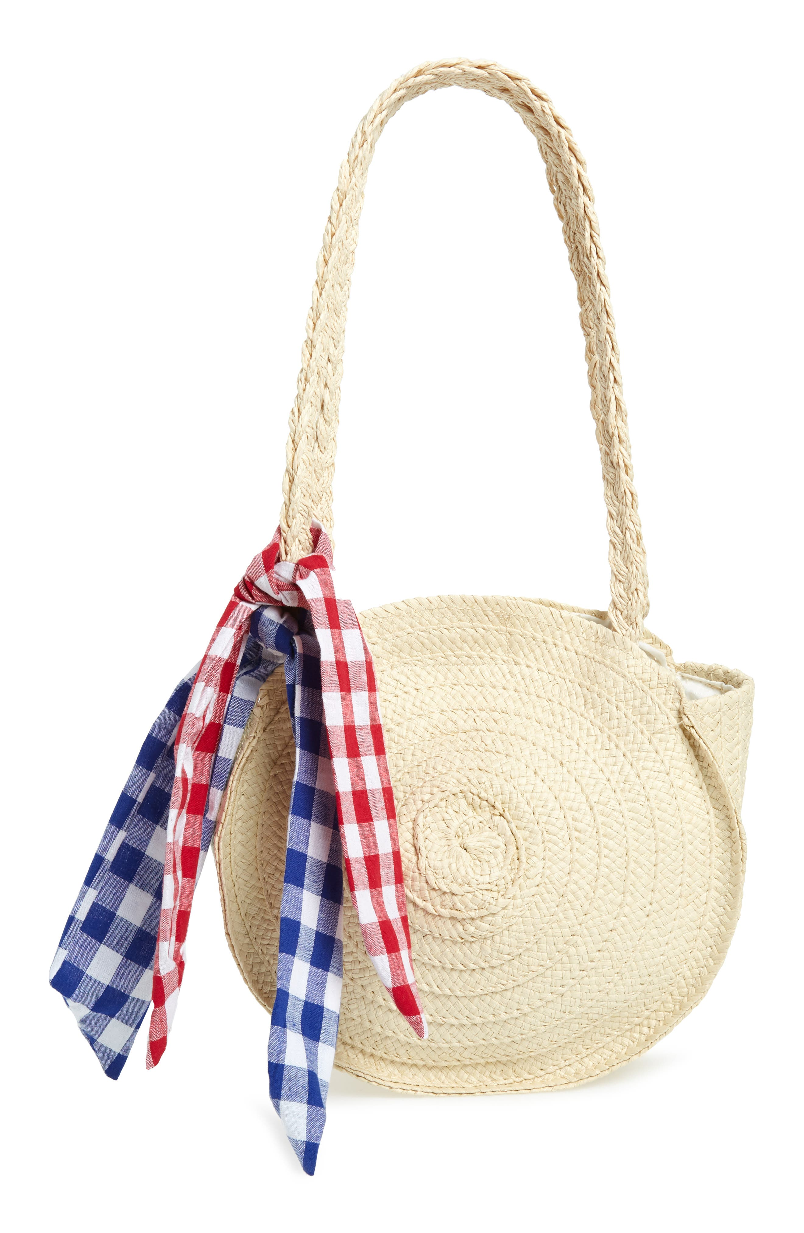 Straw Tote, Main, color, BEIGE SWAN