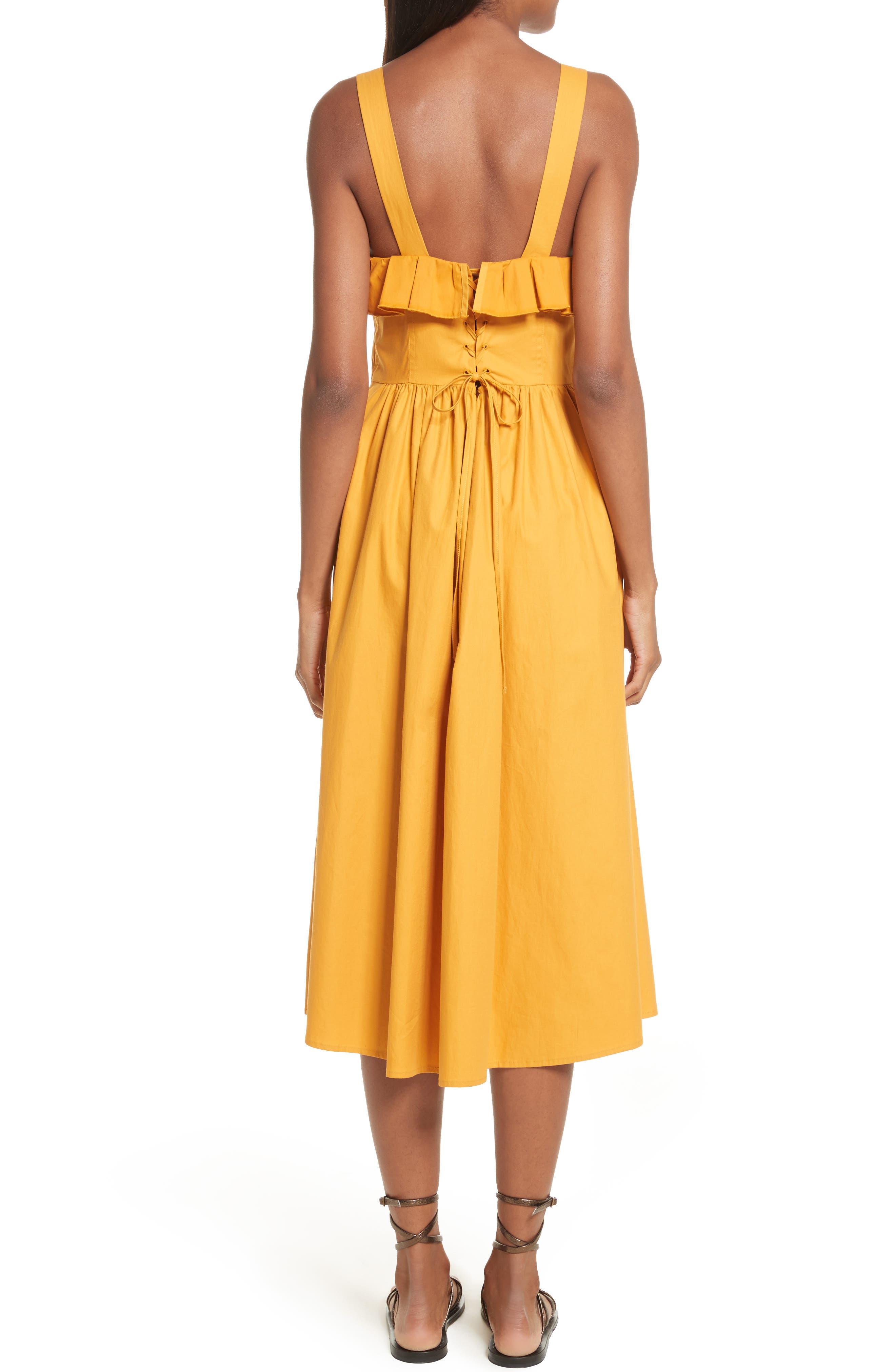 Sunrise Ruffle Midi Dress,                             Alternate thumbnail 2, color,                             800