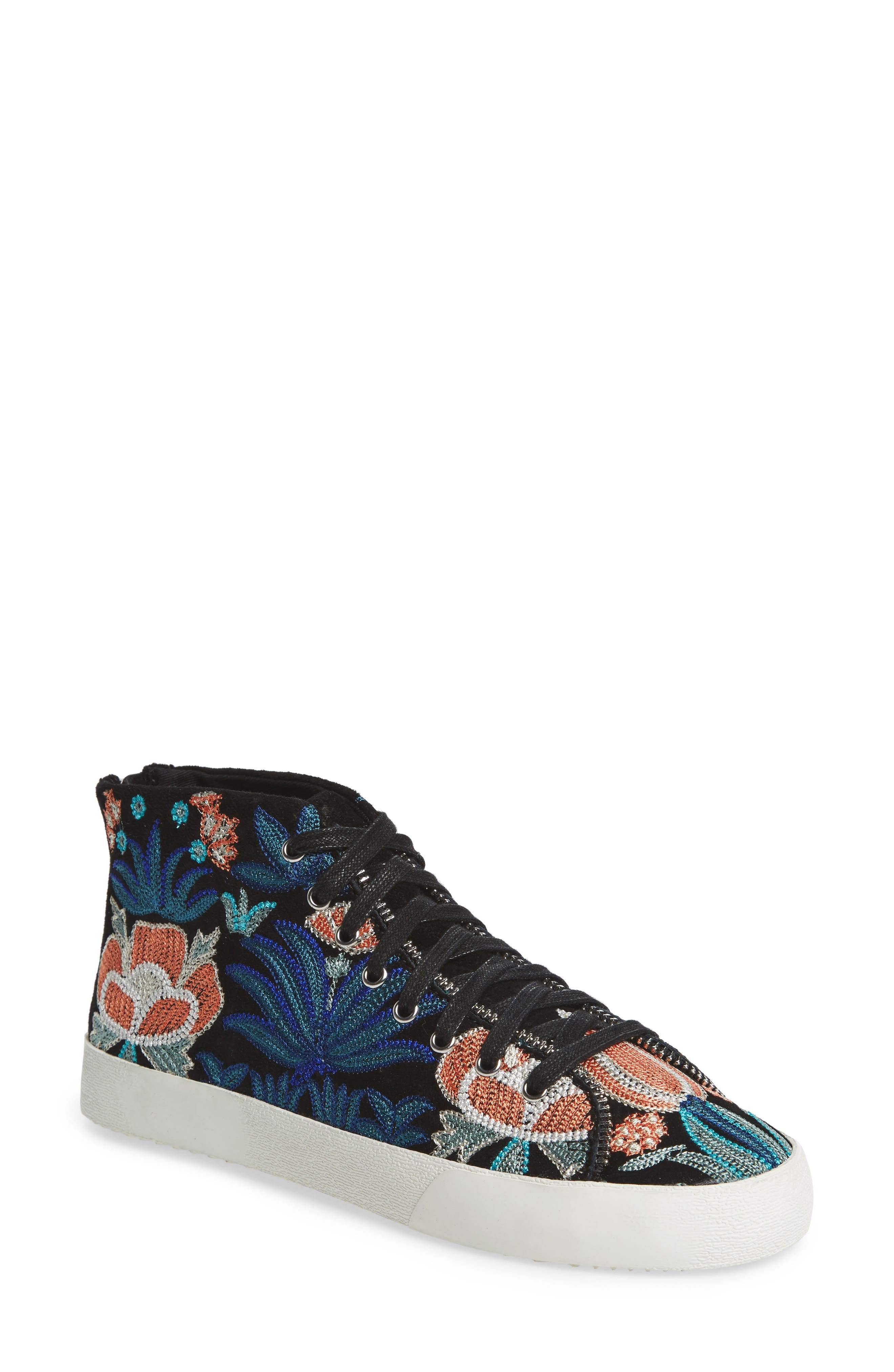 Zaina Embroidered Sneaker,                             Main thumbnail 1, color,                             004