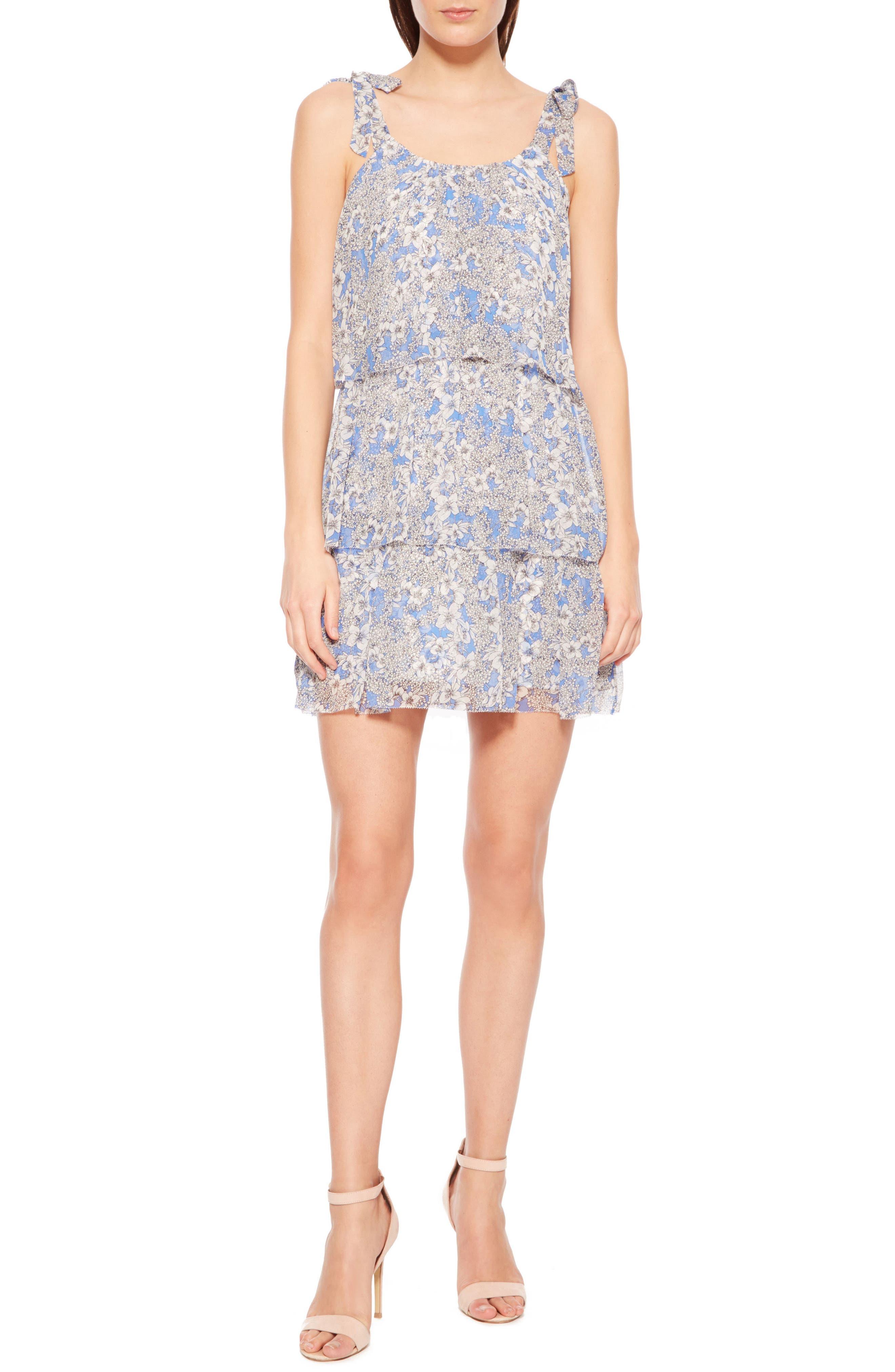 Vicky Silk Dress,                         Main,                         color, 436