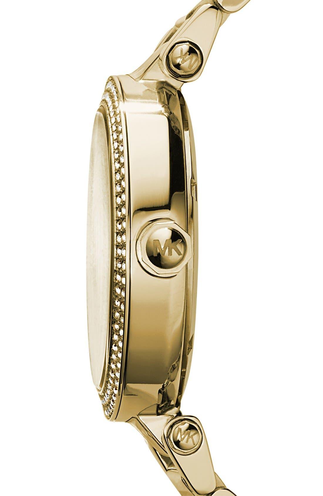 Parker Logo Dial Bracelet Watch, 39mm,                             Alternate thumbnail 4, color,                             710