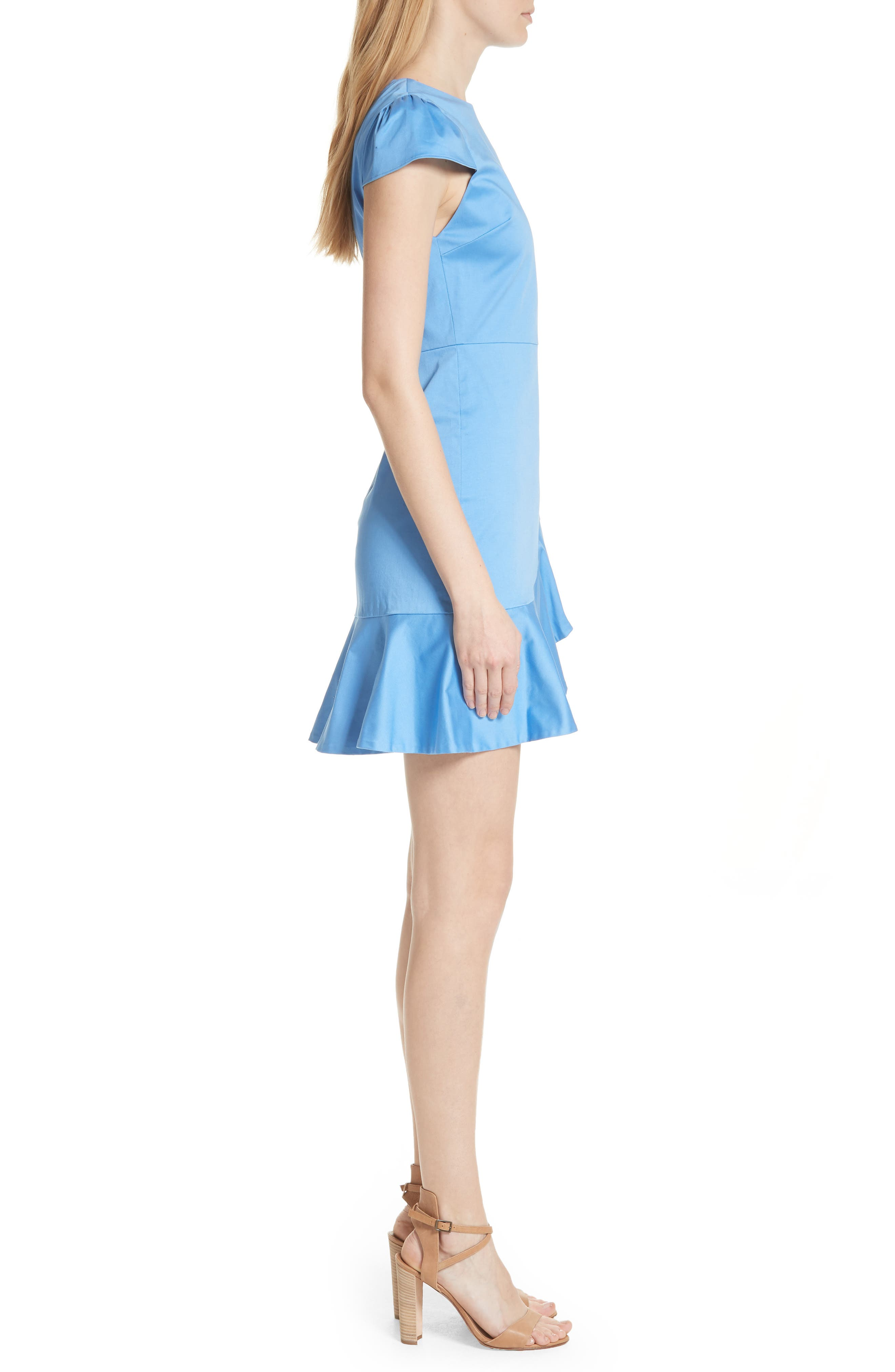 Kirby Ruffle Faux Wrap Dress,                             Alternate thumbnail 3, color,