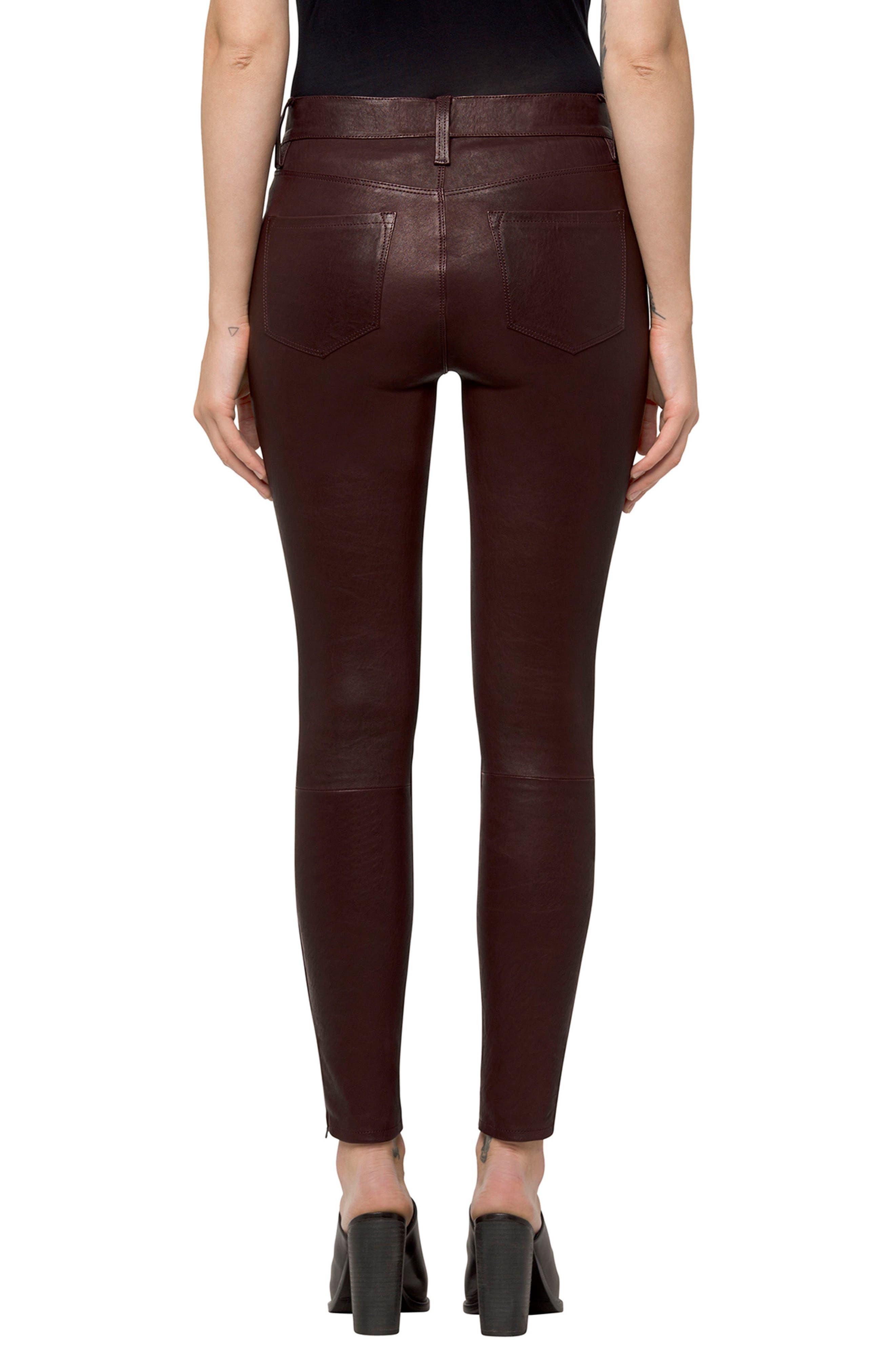 '8001' Lambskin Leather Pants,                             Alternate thumbnail 29, color,
