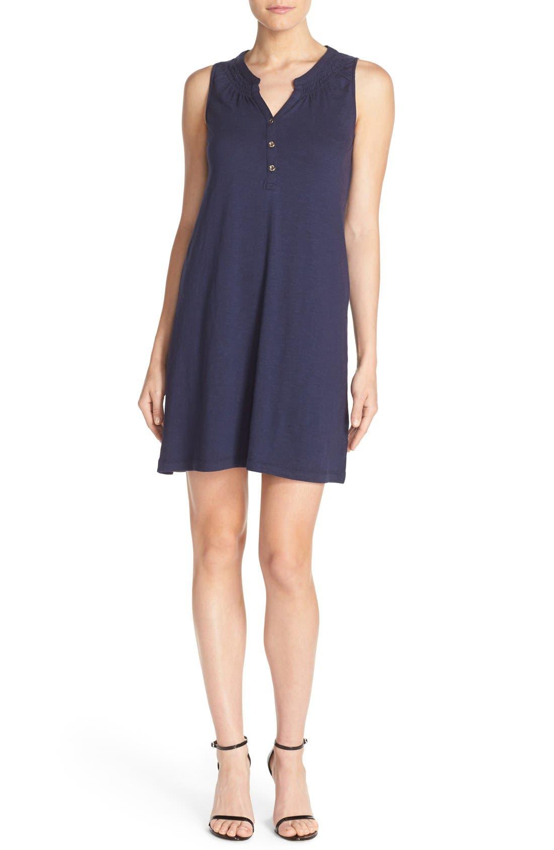 'Essie' Cotton & Modal A-Line Dress,                             Alternate thumbnail 5, color,                             408