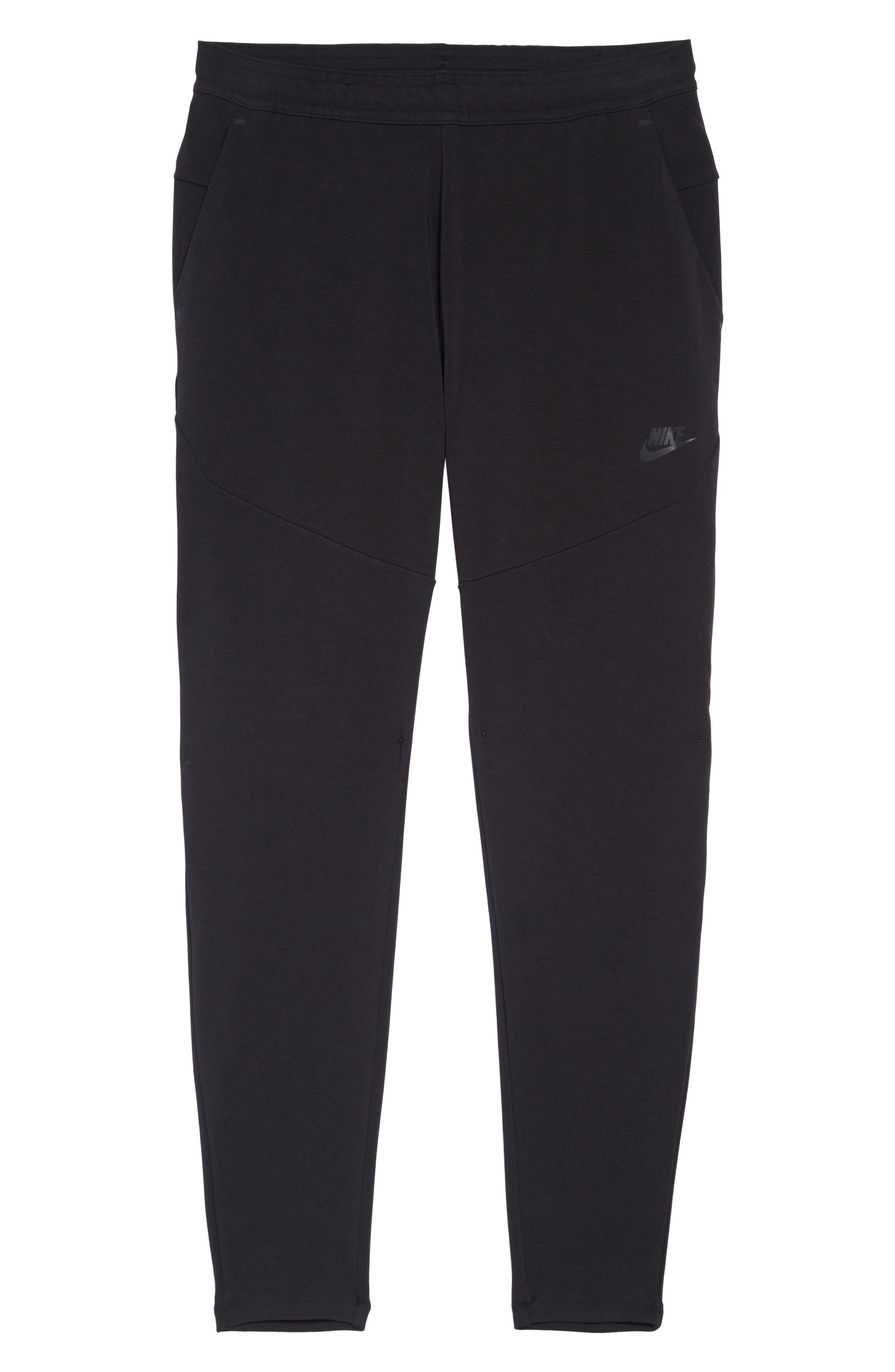 Tech Knit Jogger Pants,                             Alternate thumbnail 6, color,                             BLACK/ BLACK