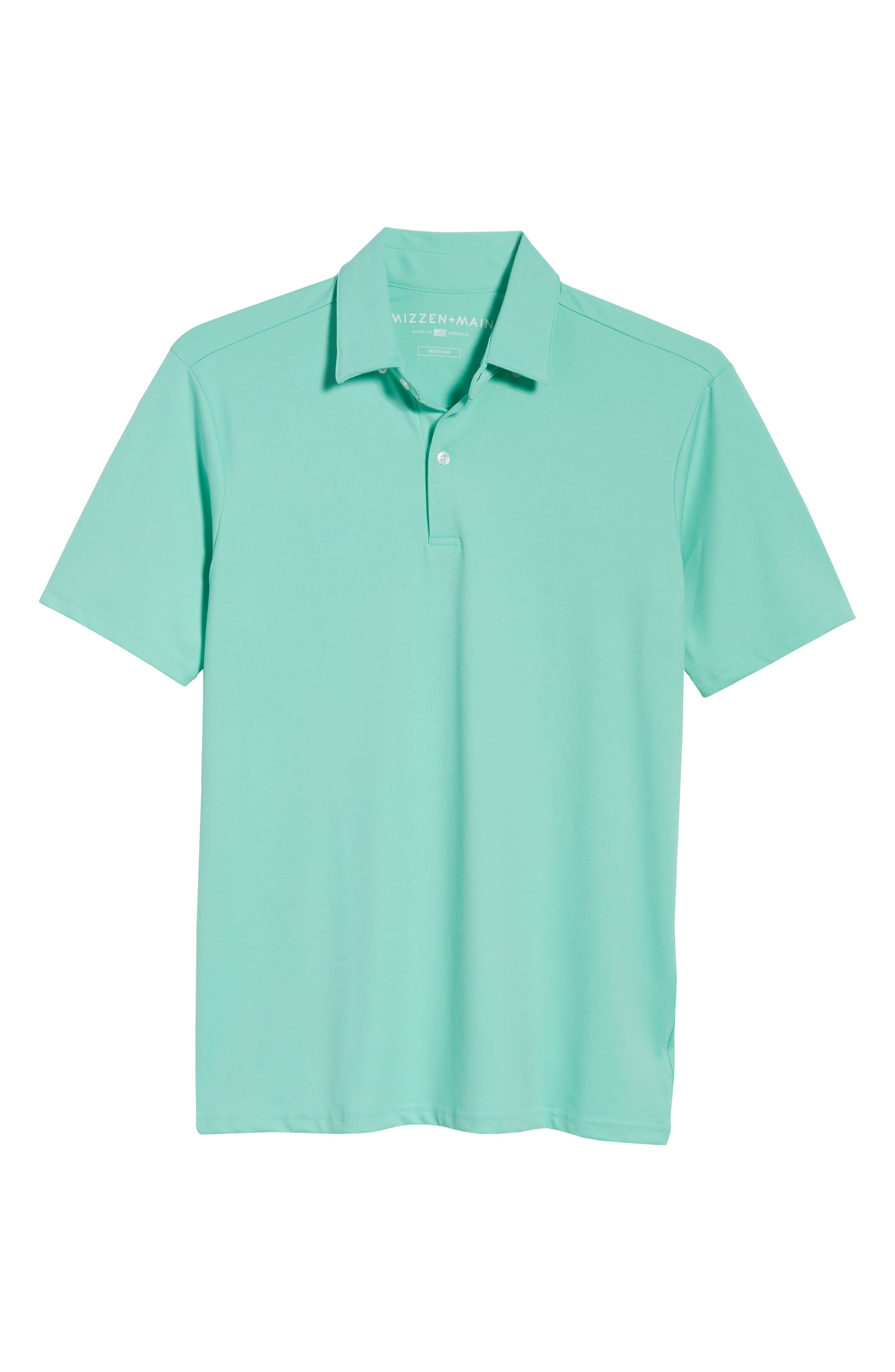 Slim Fit Active Polo,                             Alternate thumbnail 6, color,                             GREEN