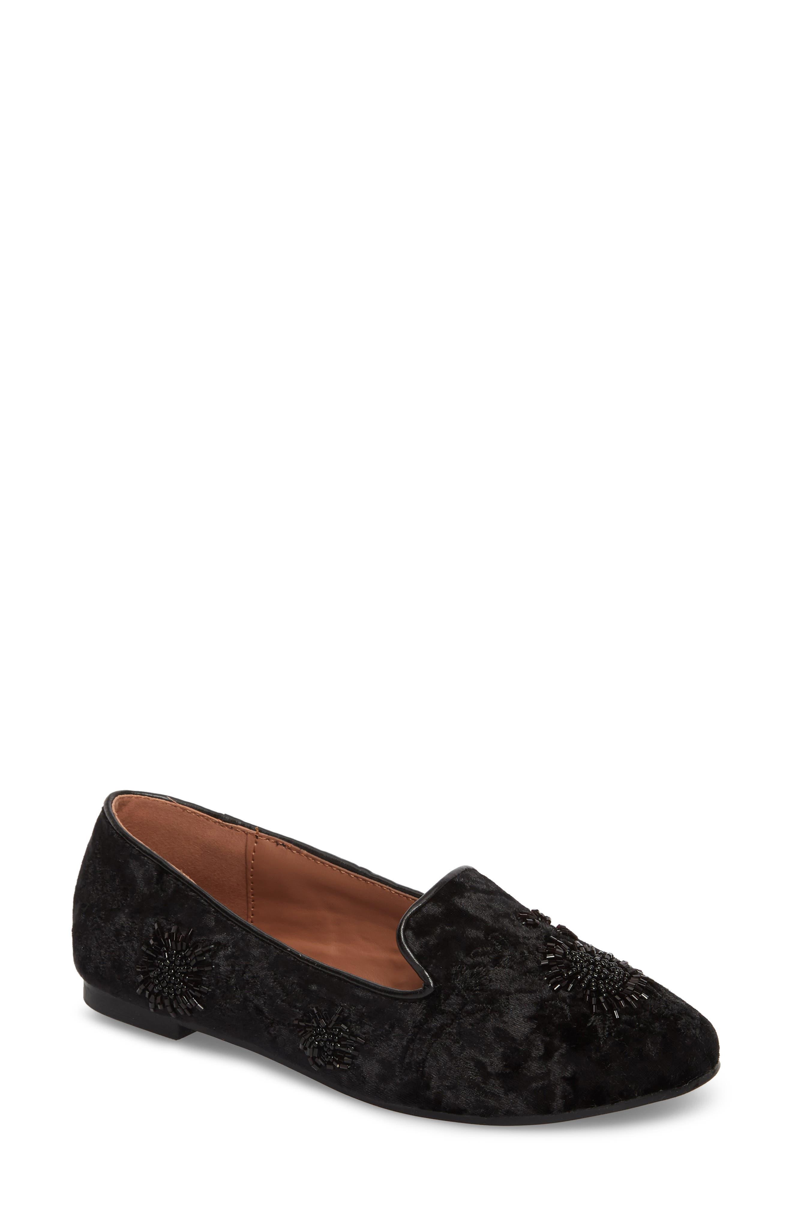 Syrup Embellished Loafer,                         Main,                         color, BLACK