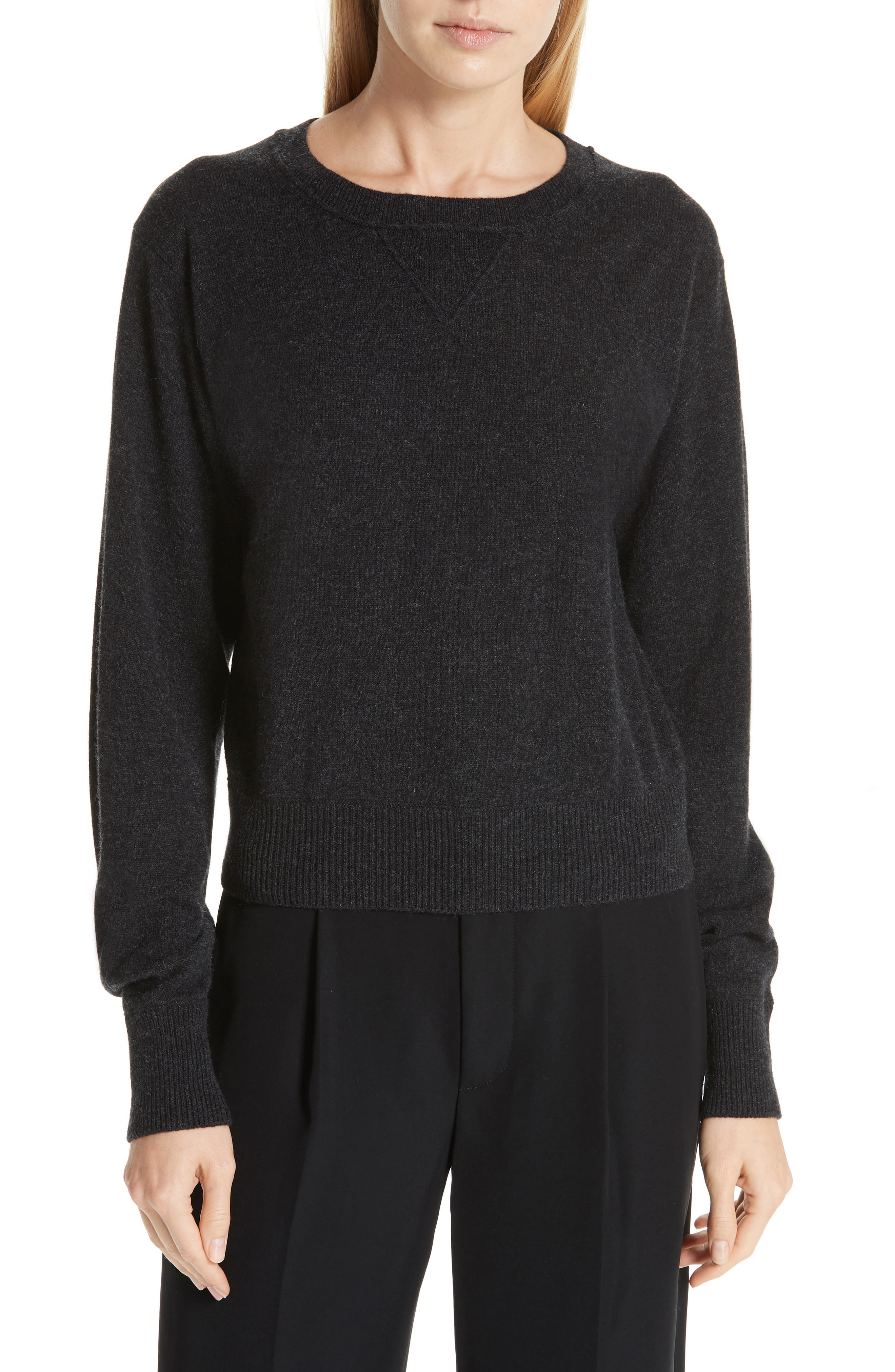 Wool & Cashmere Sweater,                             Main thumbnail 1, color,                             CHARCOAL