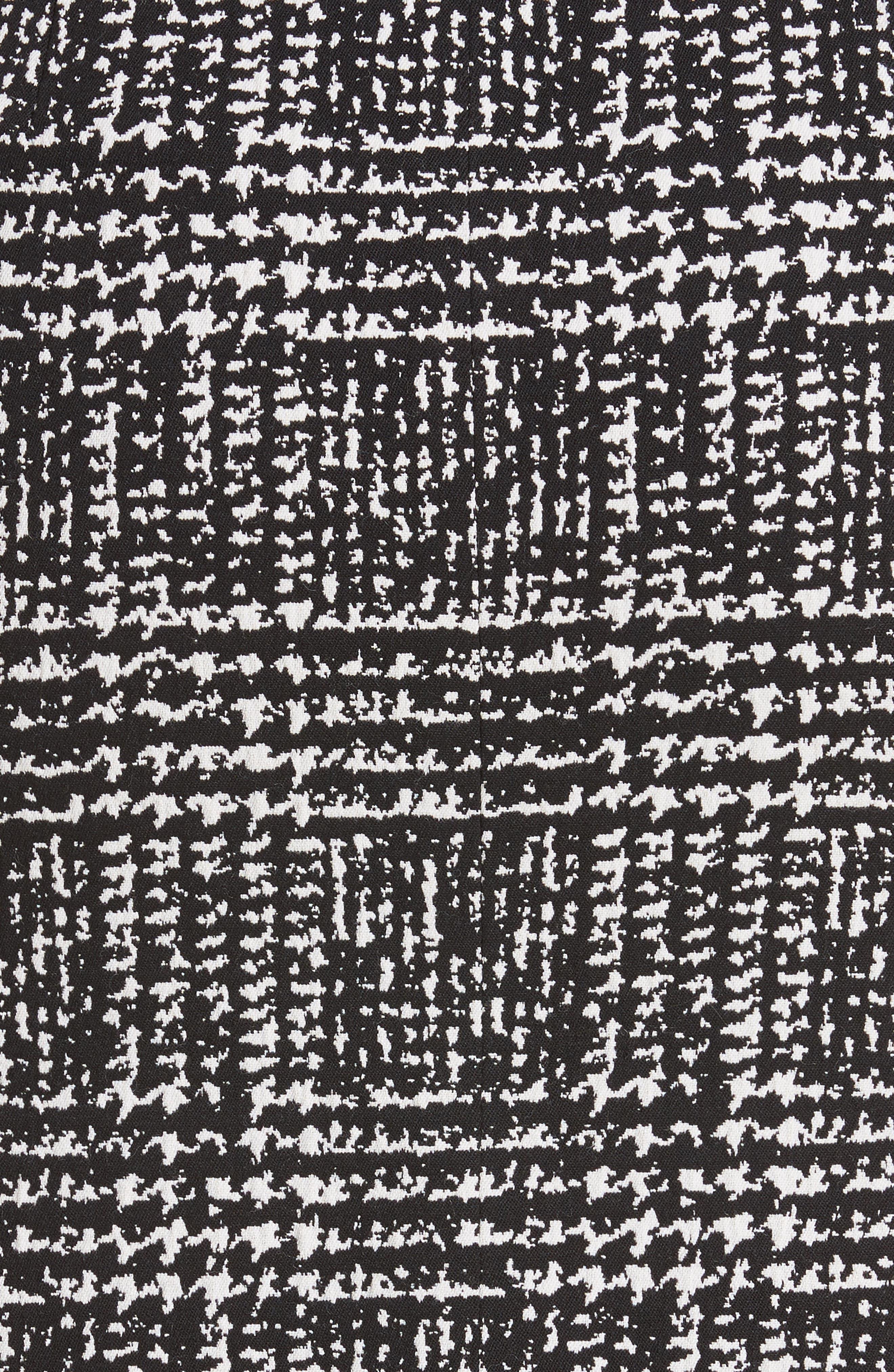 Glen Plaid Stretch Jacquard Skirt,                             Alternate thumbnail 5, color,                             001