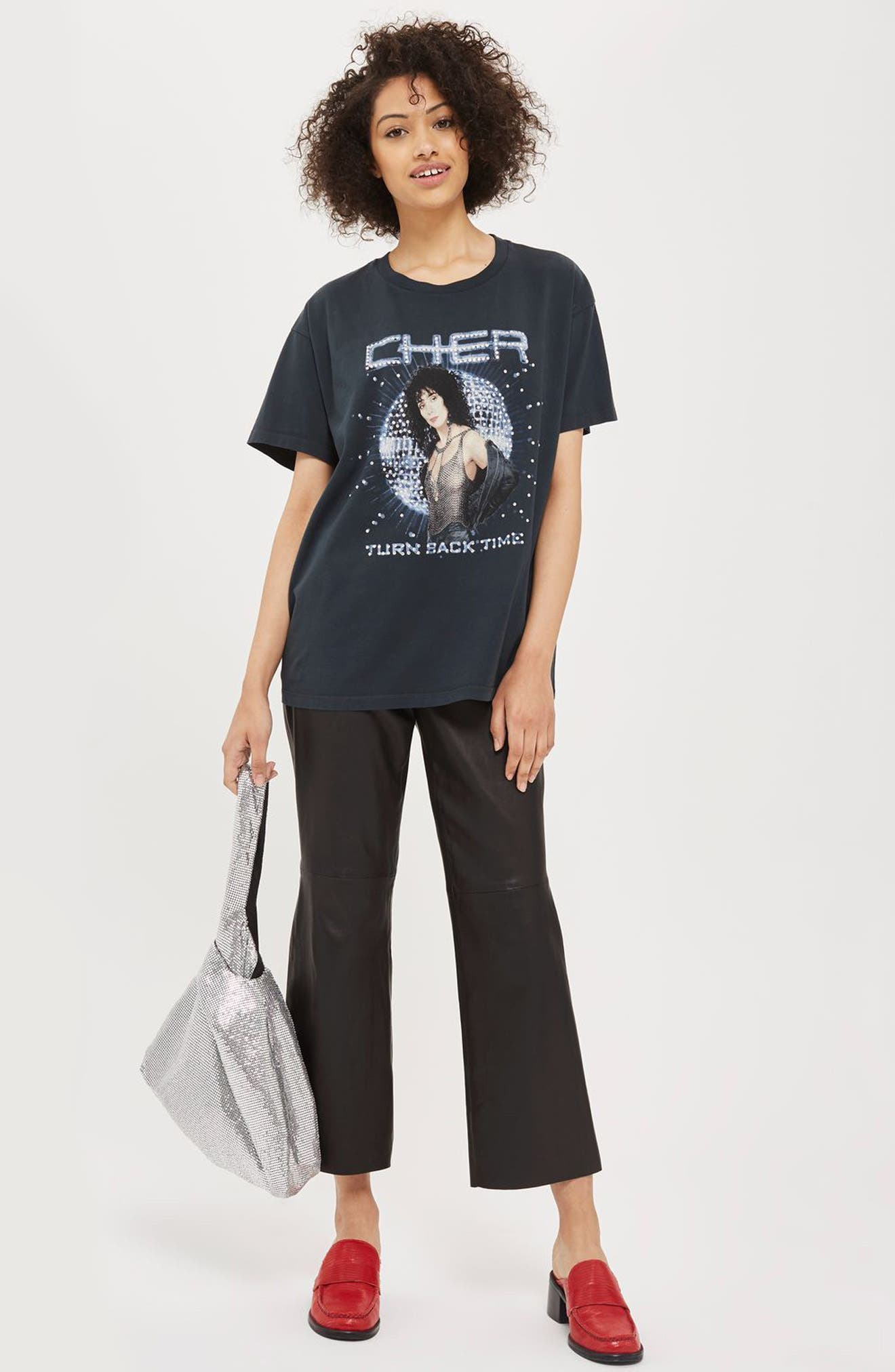 by And Finally Embellished Cher Graphic Tee,                             Alternate thumbnail 4, color,                             001