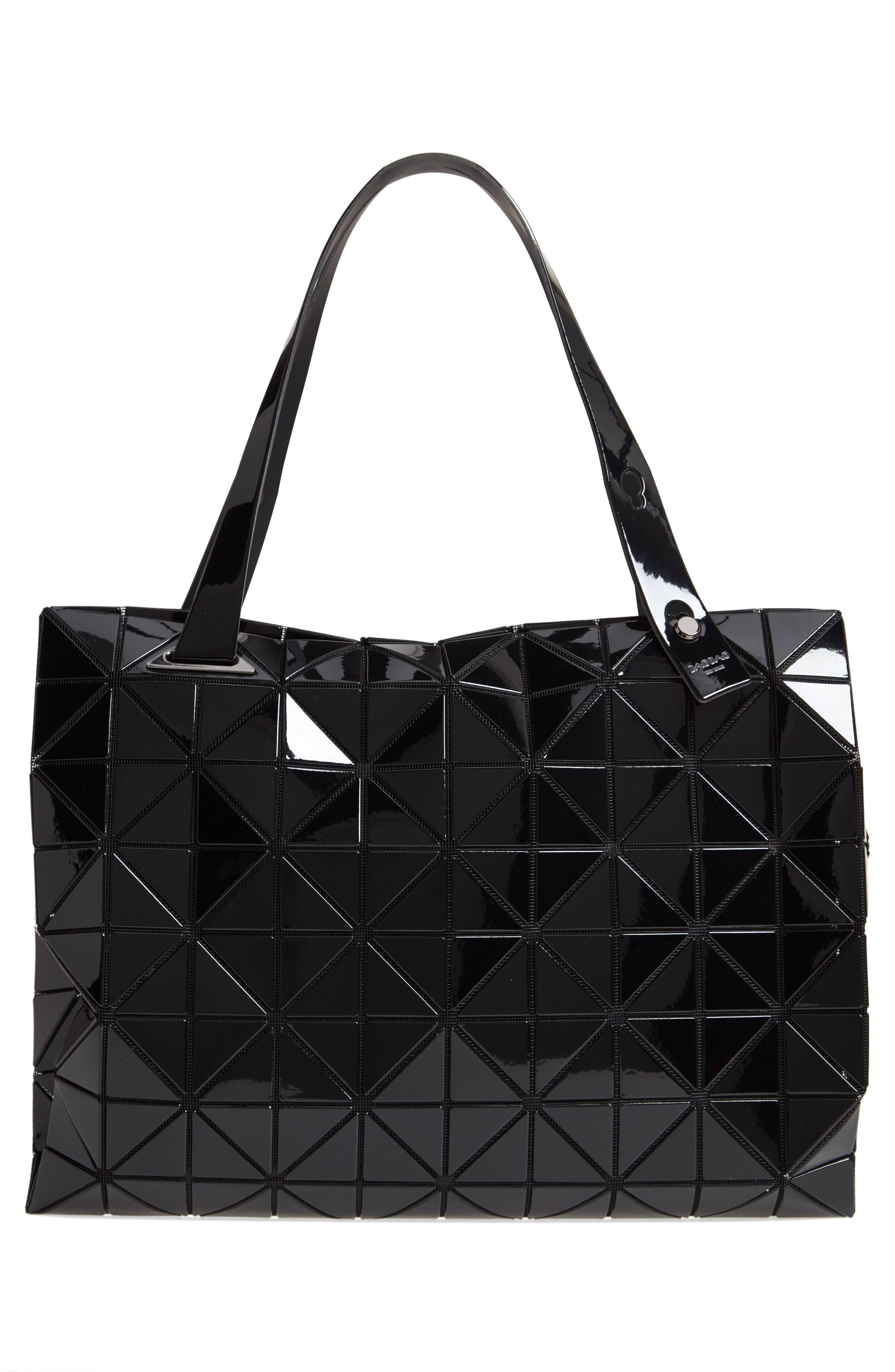 Carton Prism Tote Bag,                             Alternate thumbnail 3, color,                             BLACK