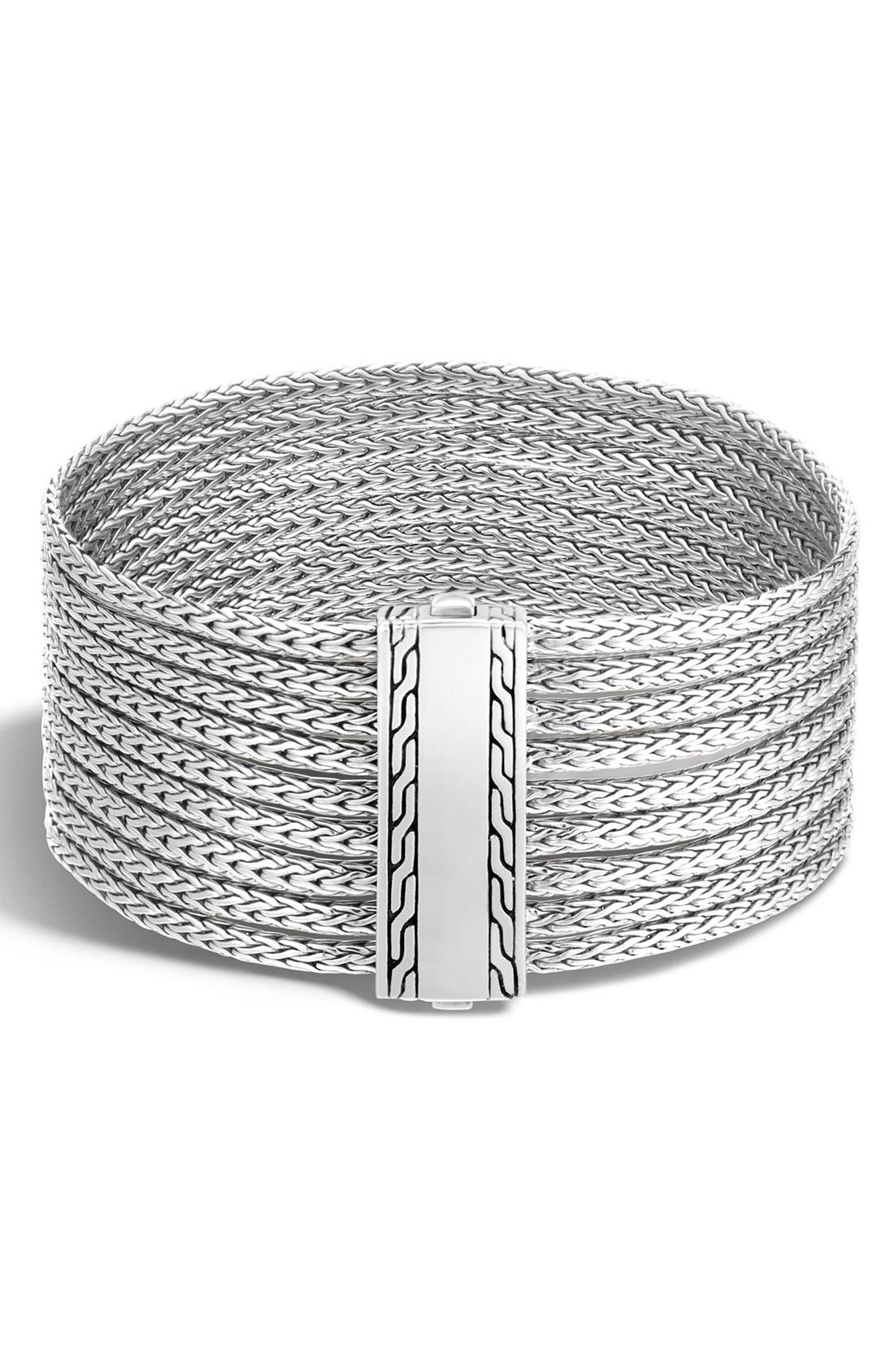 'Classic Chain' Multi-Row Bracelet,                         Main,                         color, SILVER