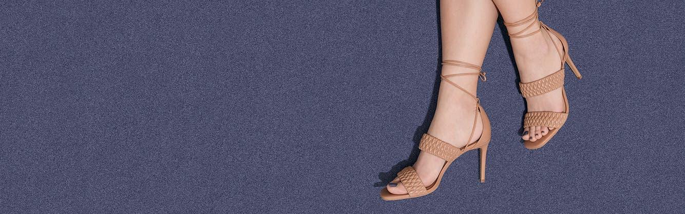 A woman wearing high heels.
