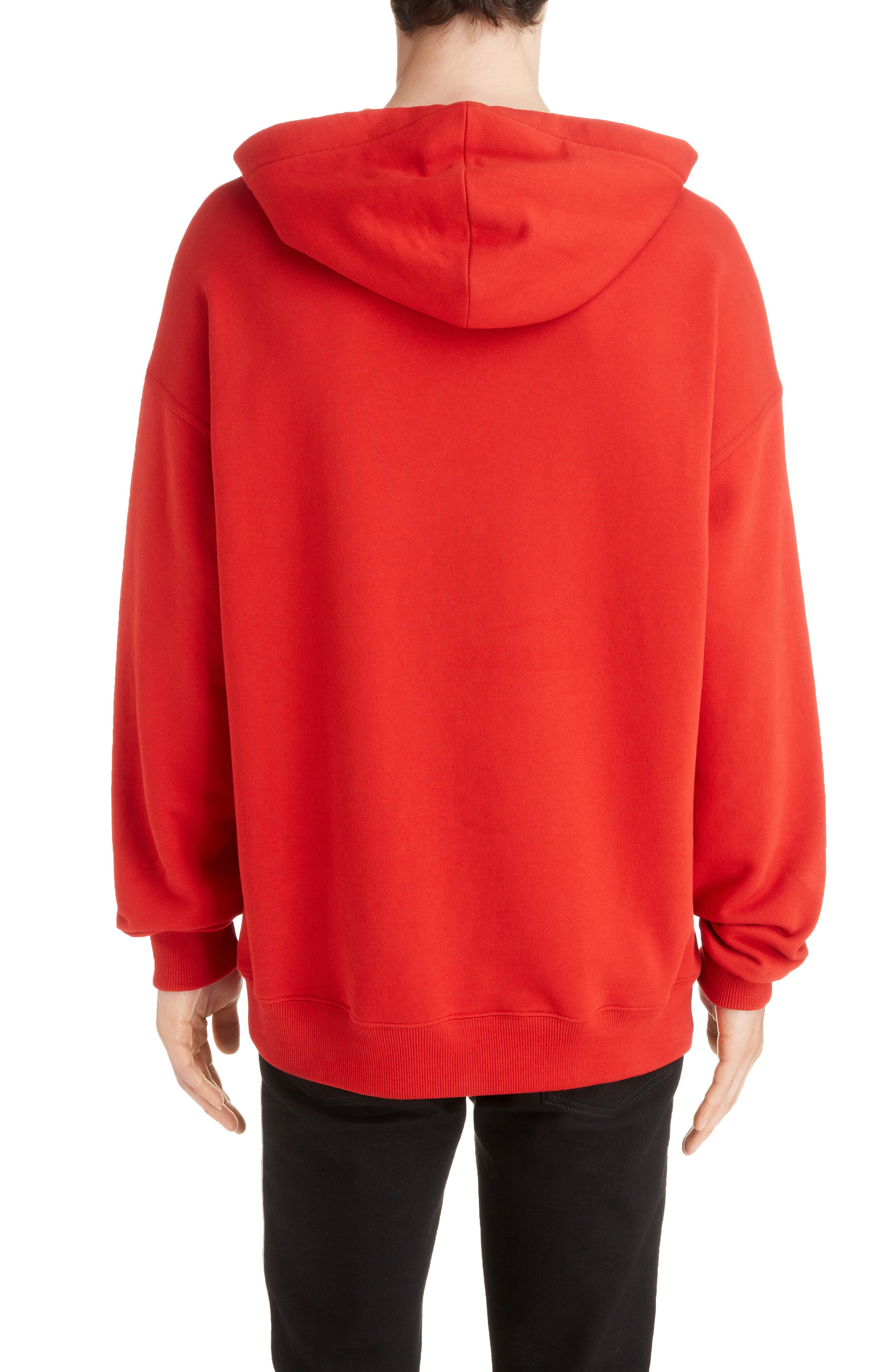 Logo Hoodie,                             Alternate thumbnail 2, color,                             BRIGHT RED