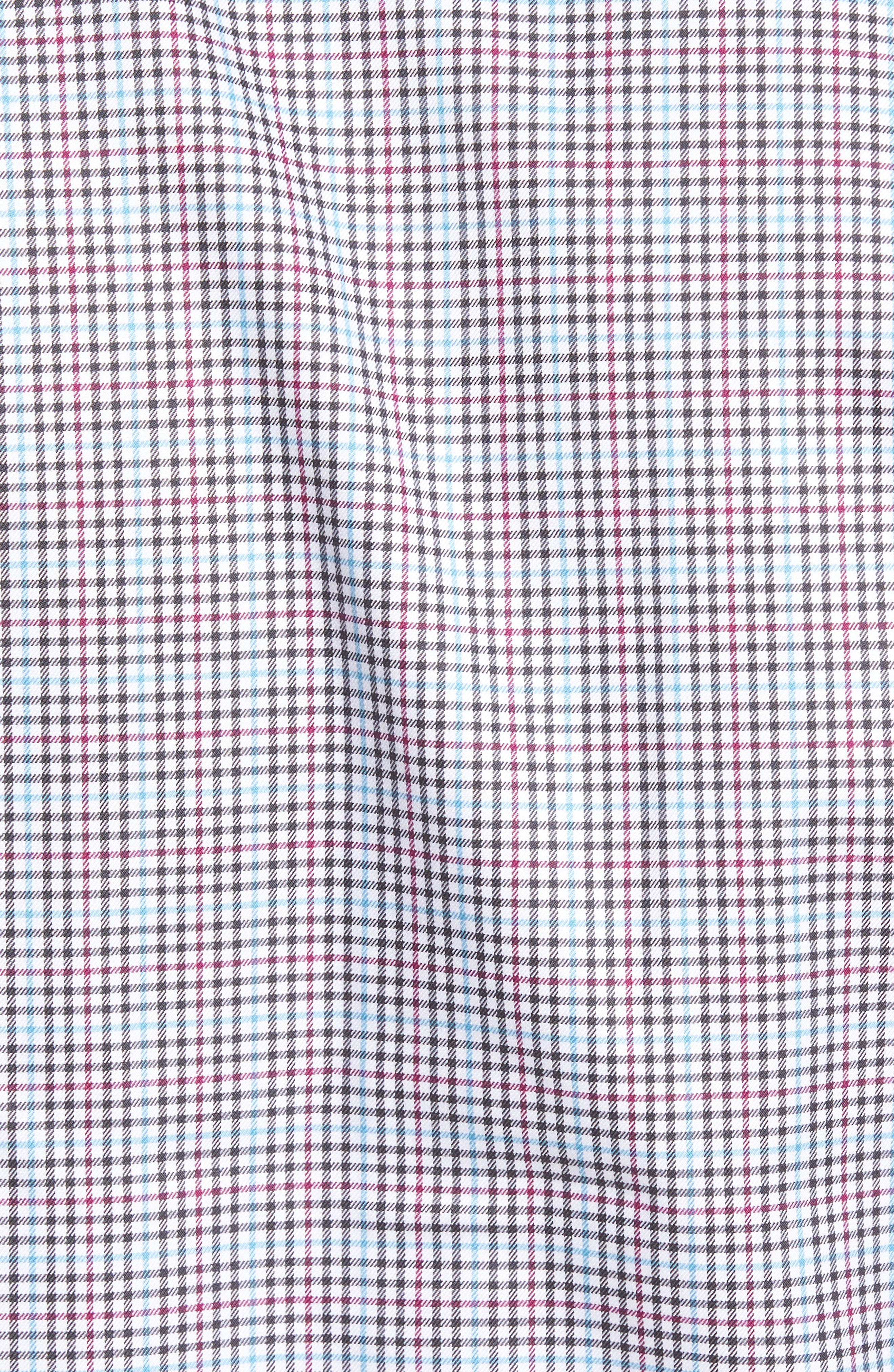 Regular Fit Plaid Sport Shirt,                             Alternate thumbnail 5, color,                             020