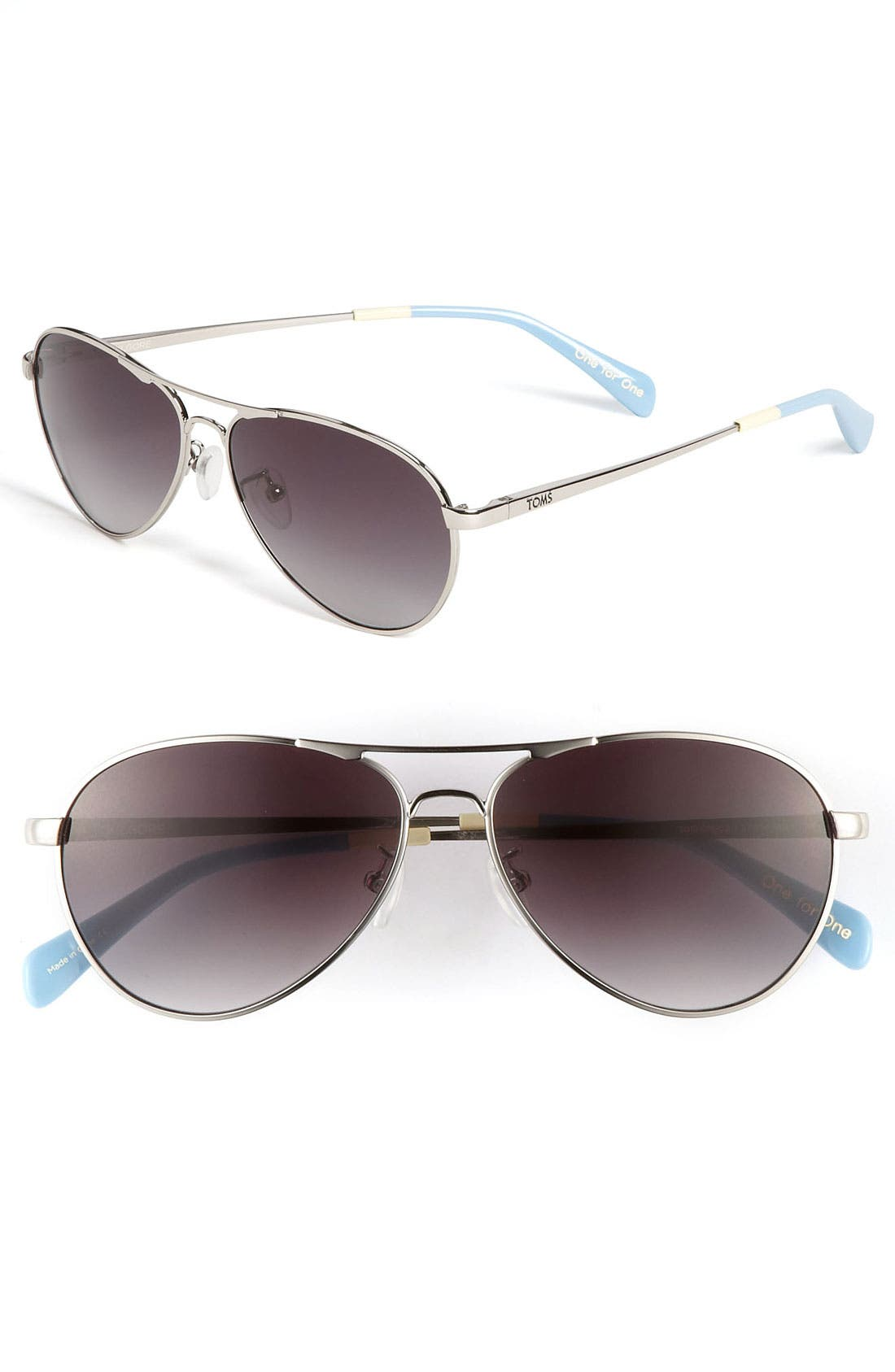 'Kilgore' 57mm Polarized Aviator Sunglasses, Main, color, 040