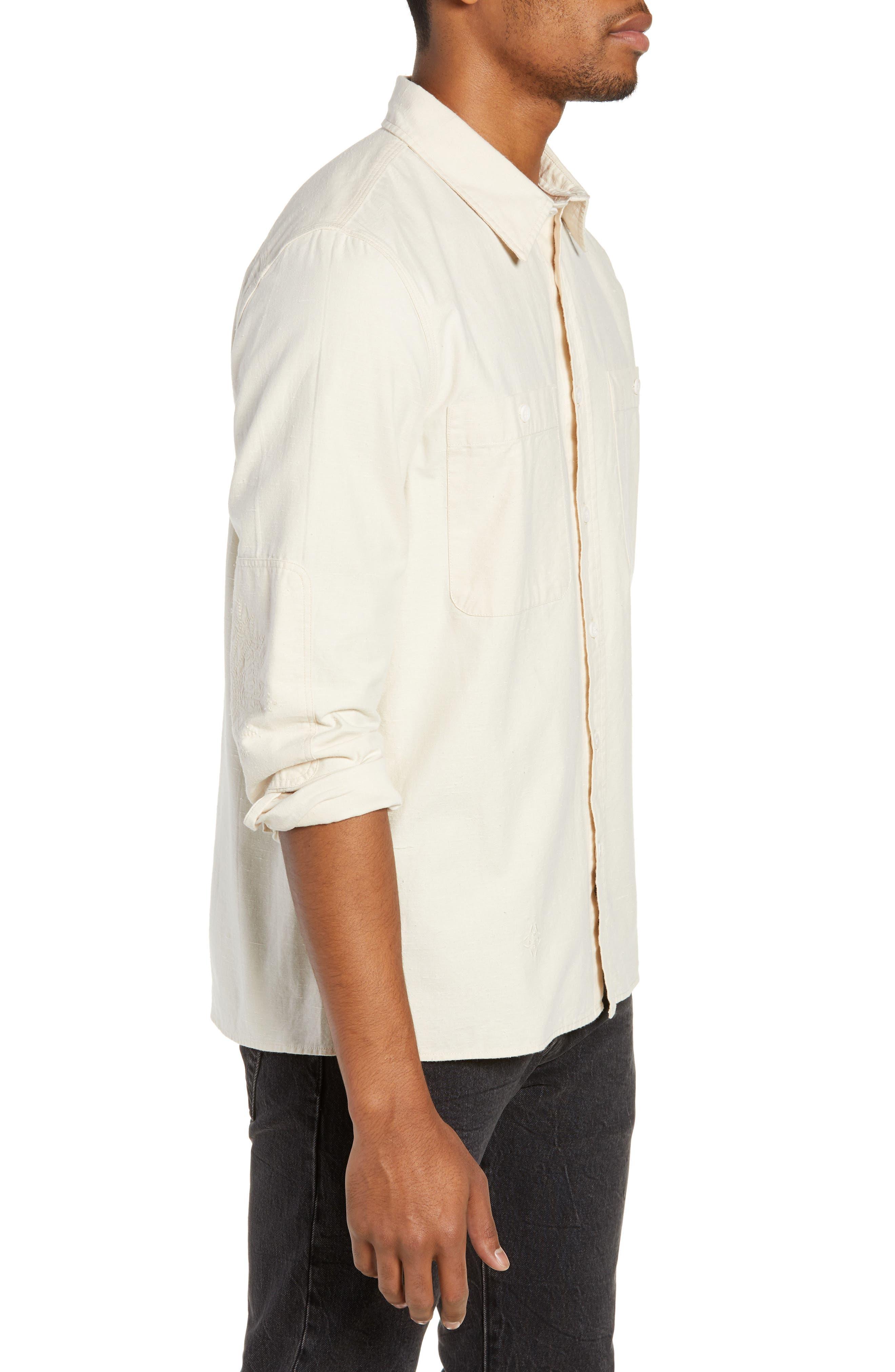 Workwear Regular Fit Shirt,                             Alternate thumbnail 4, color,                             PRISTINE