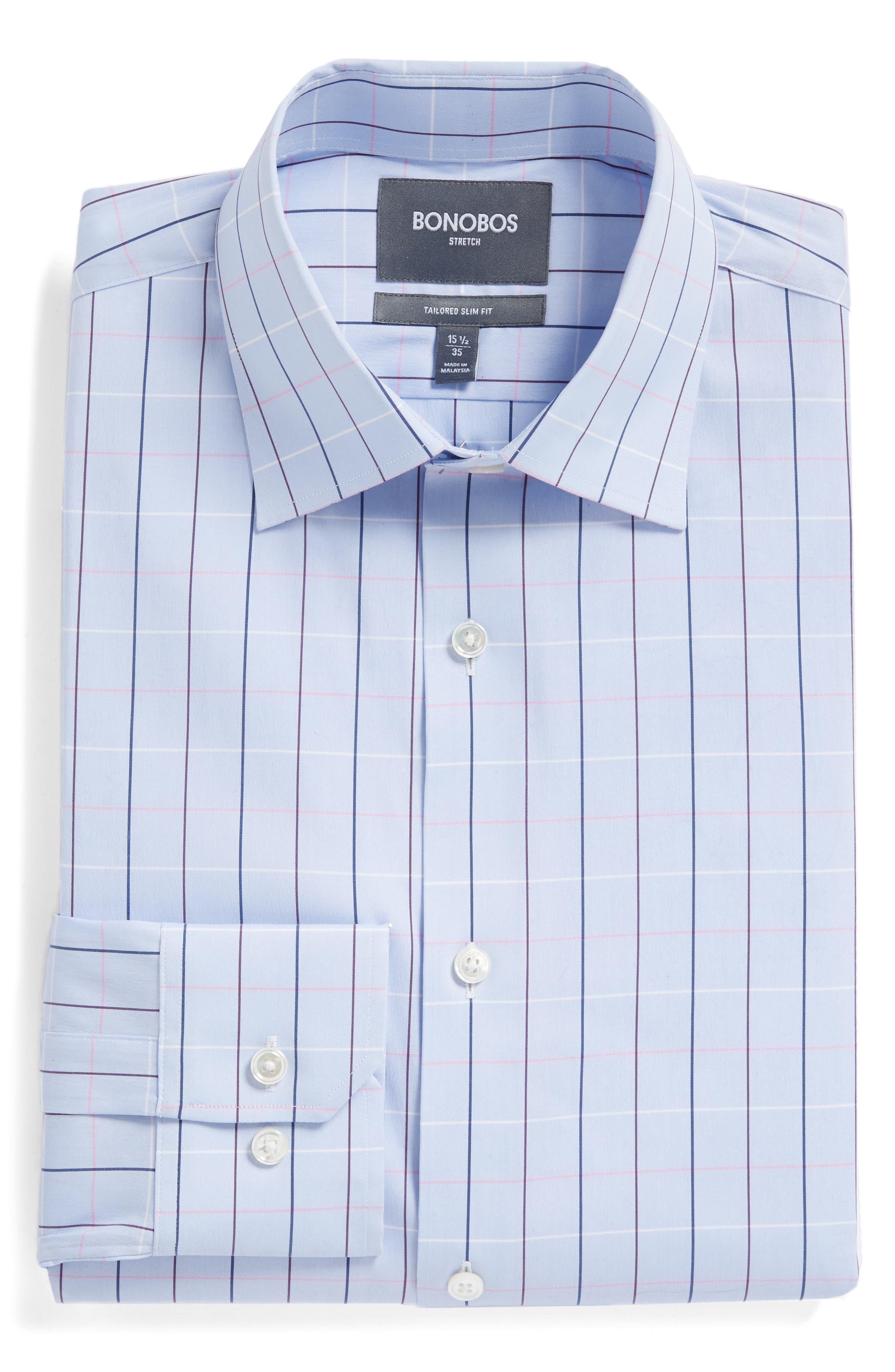 Jetsetter Slim Fit Stretch Check Dress Shirt,                             Alternate thumbnail 5, color,                             400