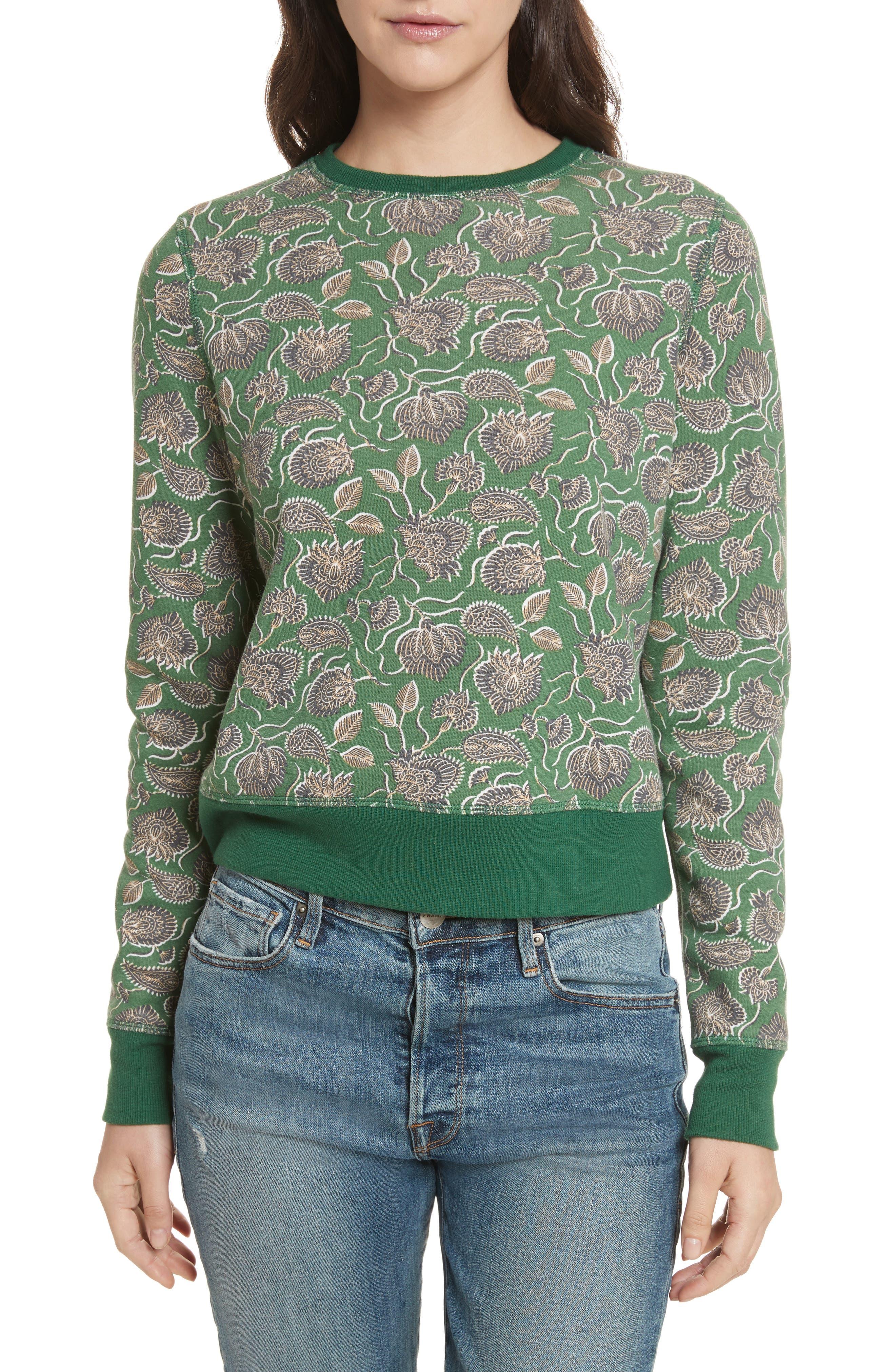 Lotus Paisley Sweatshirt,                             Main thumbnail 1, color,                             317