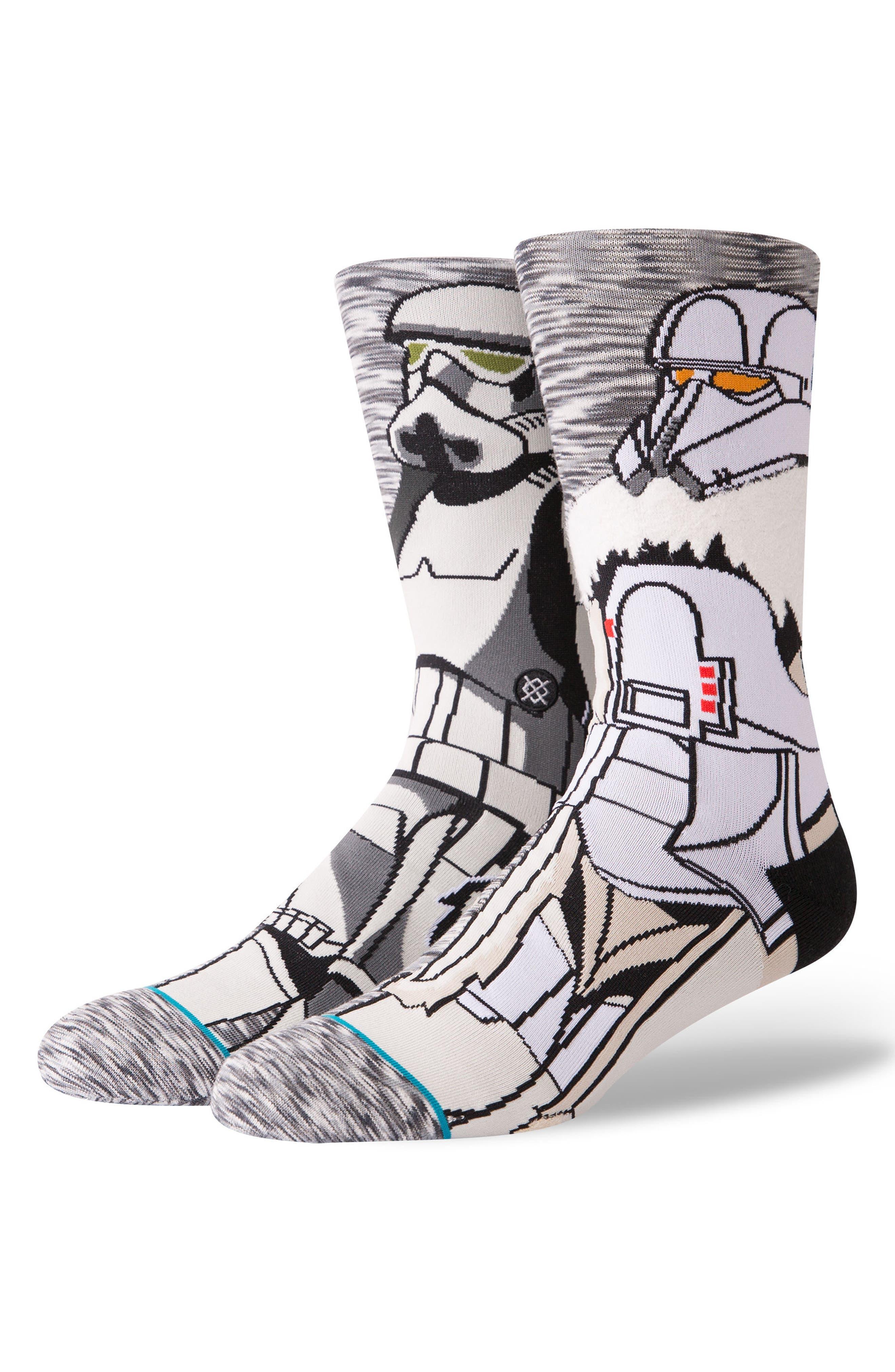 Star Wars Troop Socks,                             Main thumbnail 1, color,                             GREY