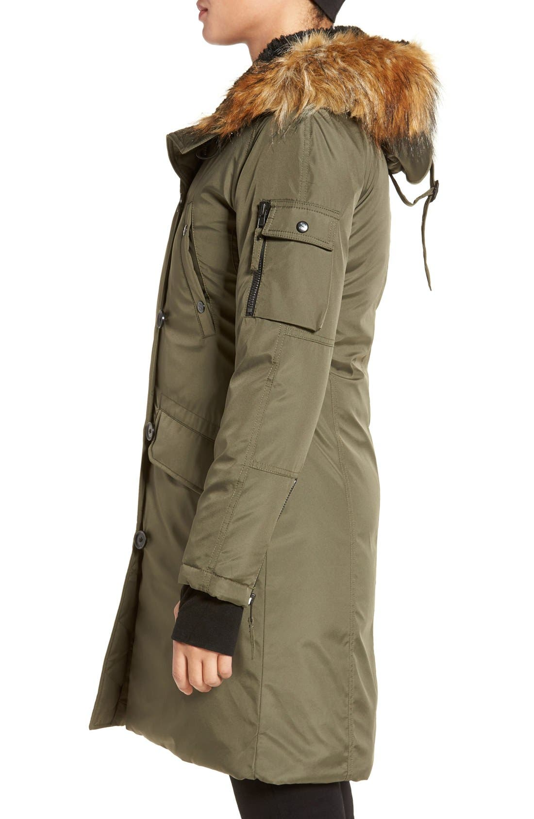 S13 'Alaska' Parka with Faux Fur Trim Hood,                             Alternate thumbnail 10, color,