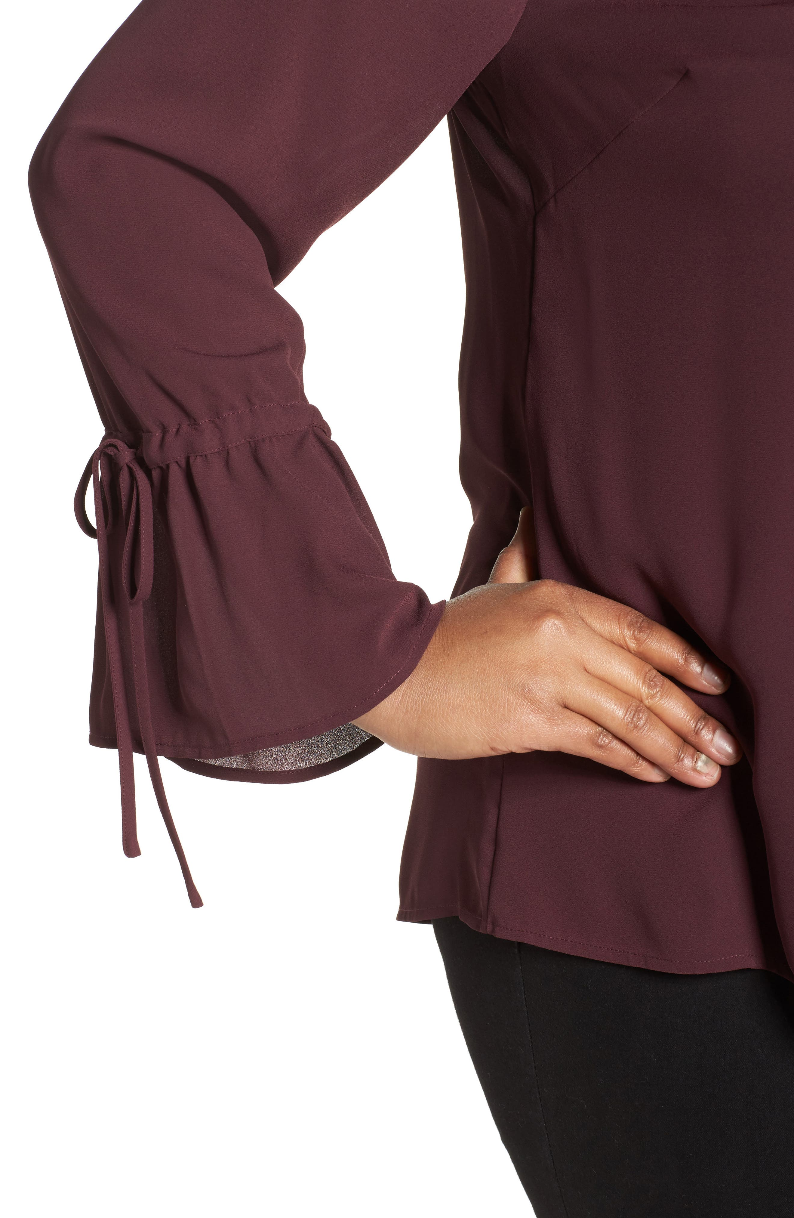 Tie Sleeve Blouse,                             Alternate thumbnail 16, color,