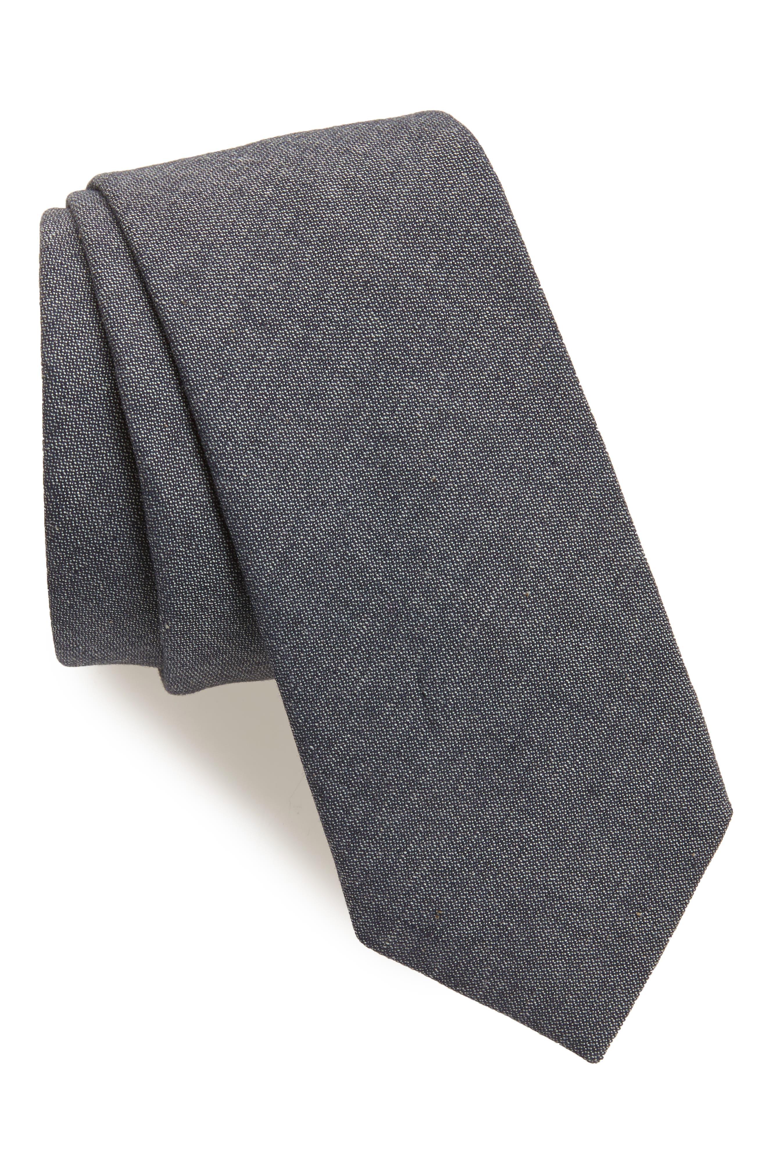 Solid Cotton Tie,                             Main thumbnail 1, color,