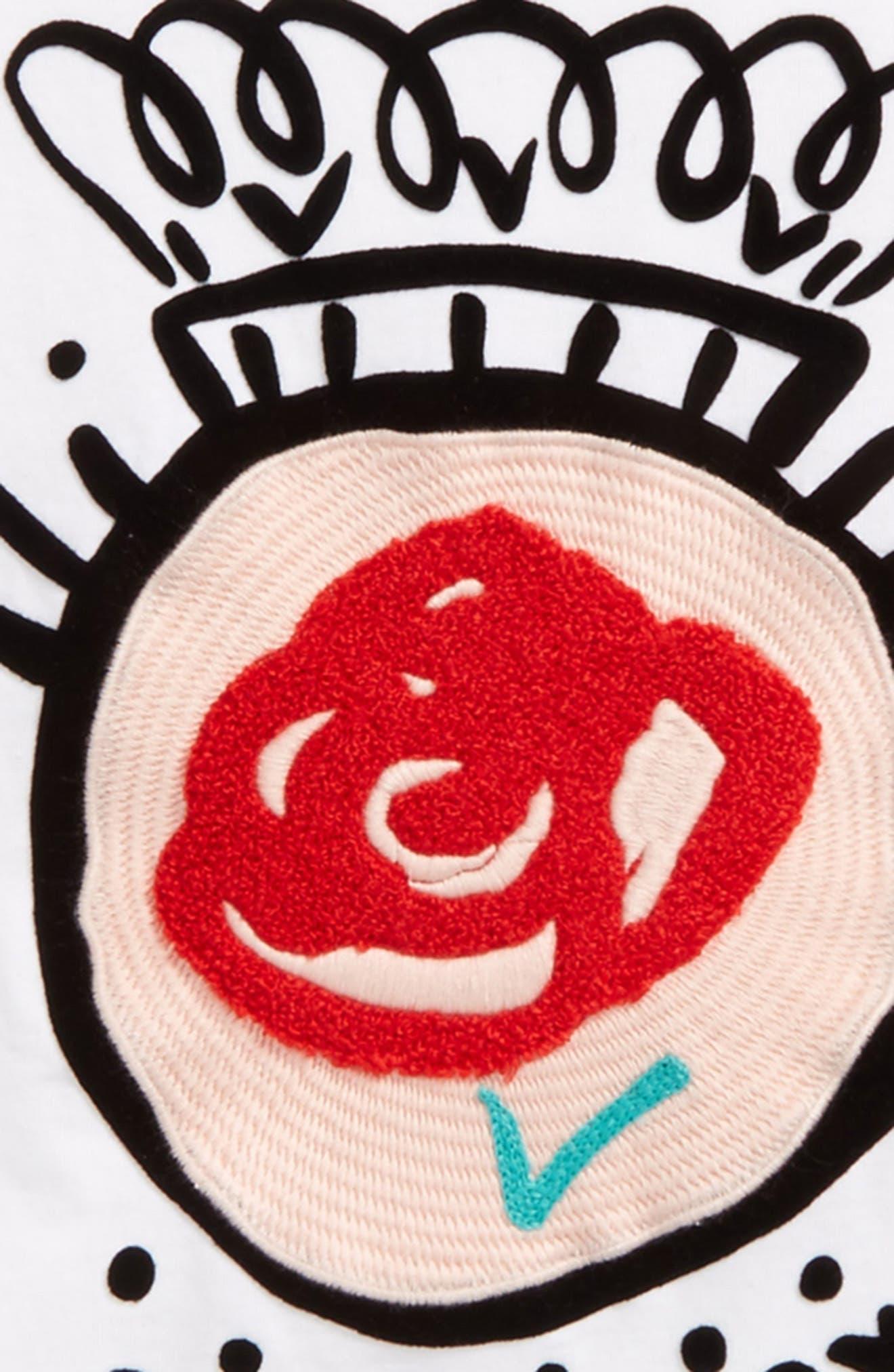 Rose Stripe Top,                             Alternate thumbnail 2, color,                             100