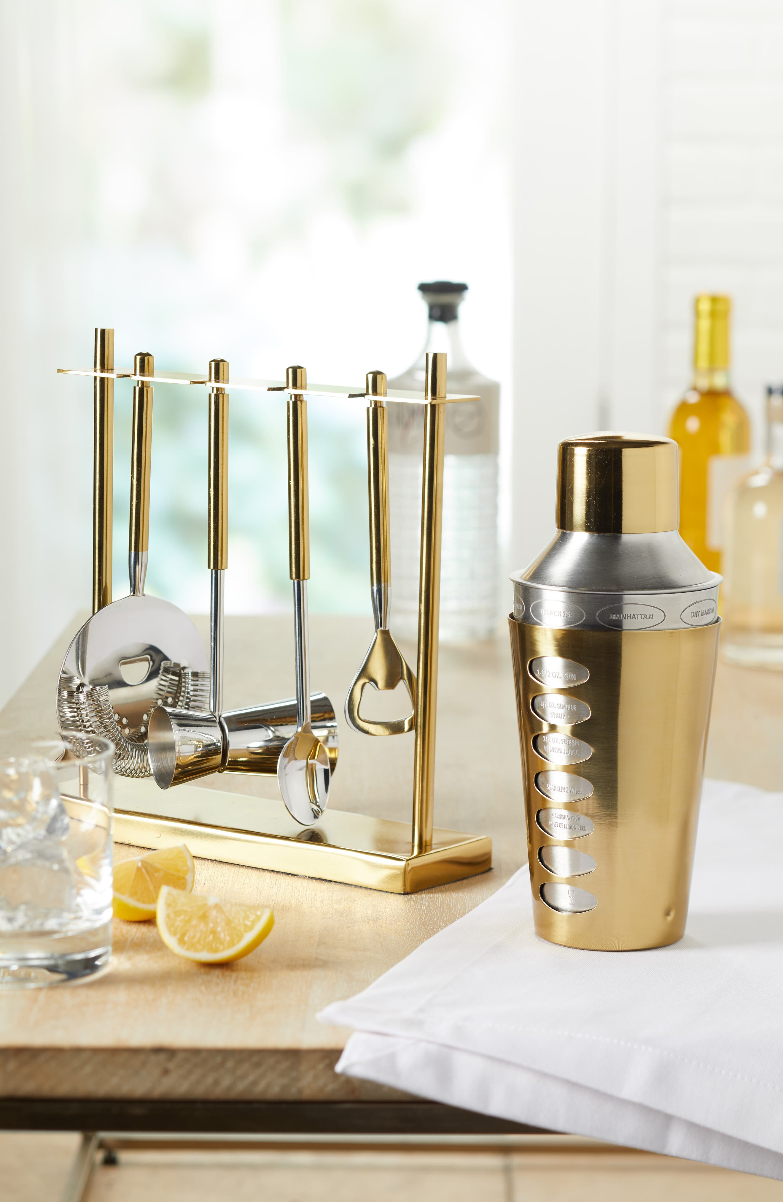 Nordstrom 5-Piece Stainless Steel Bar Tool Set,                             Alternate thumbnail 2, color,                             GOLD