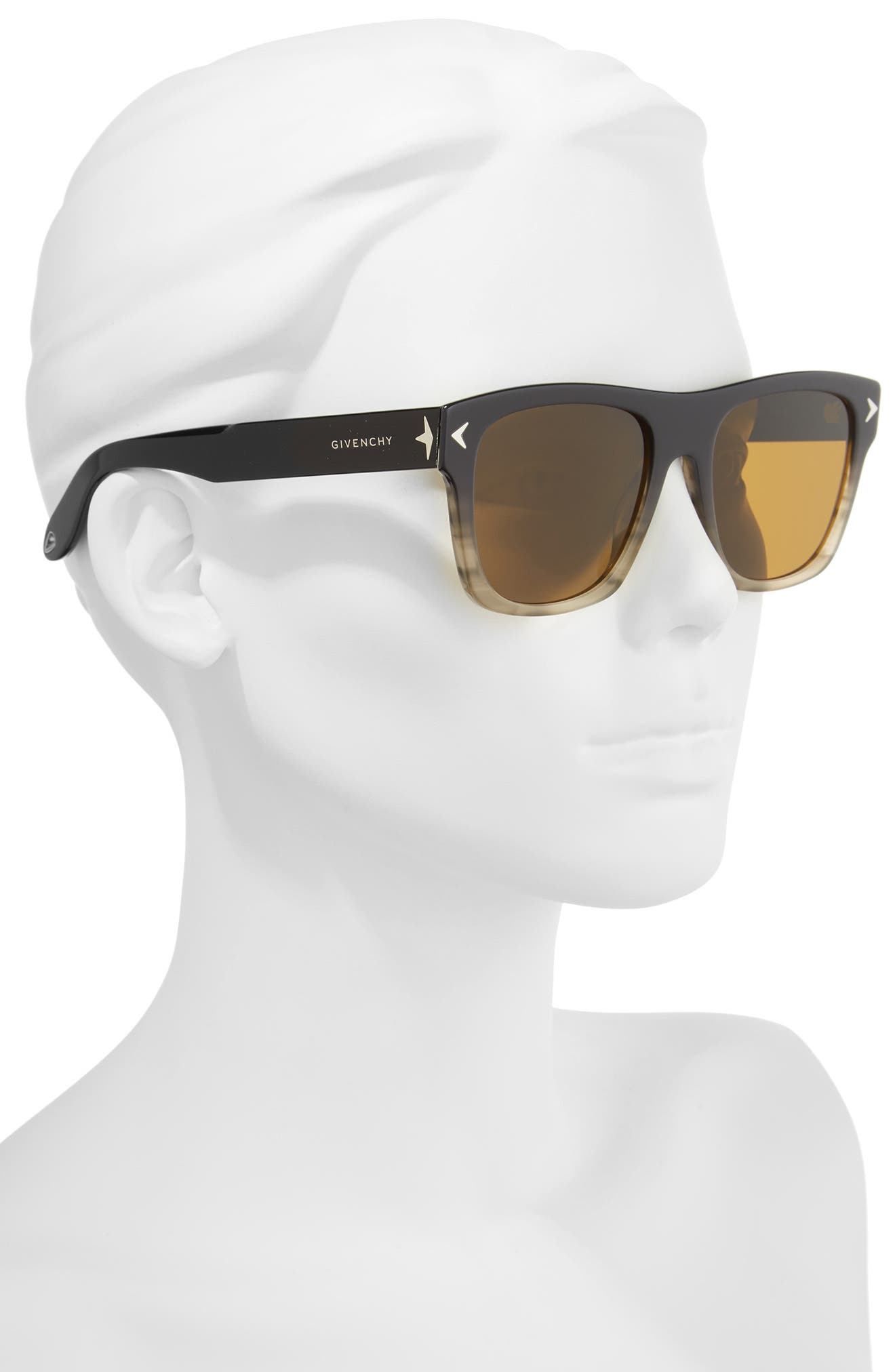 55mm Square Sunglasses,                             Alternate thumbnail 2, color,                             020