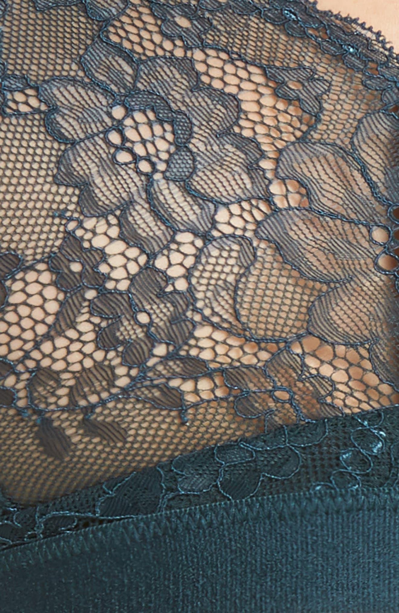 Spotlight On Lace Bralette,                             Alternate thumbnail 7, color,                             MALACHITE