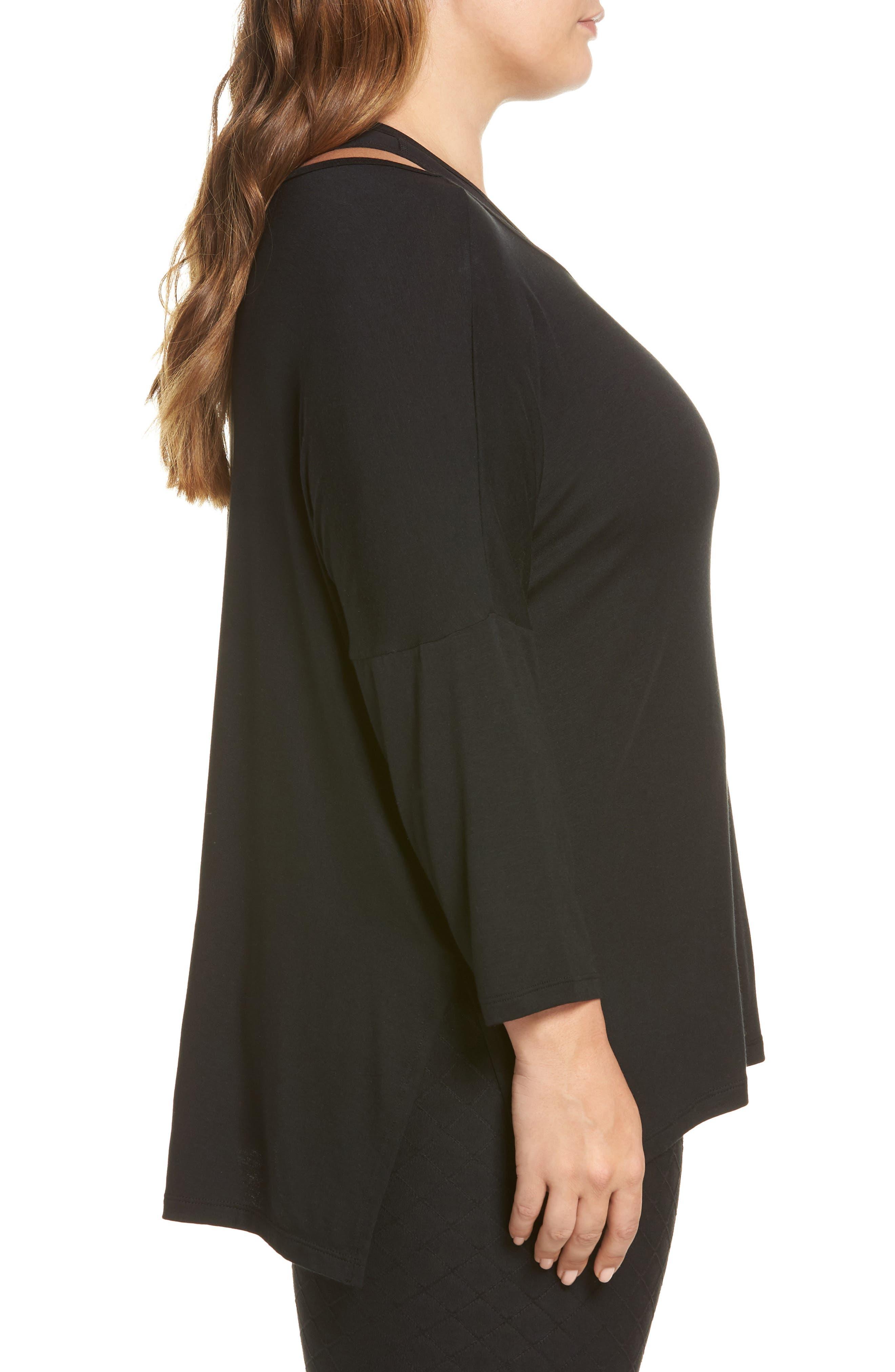 Slink It Boxy Pullover,                             Alternate thumbnail 3, color,                             BLACK