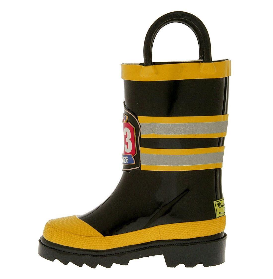 'Fireman' Rain Boot,                             Alternate thumbnail 3, color,                             BYE