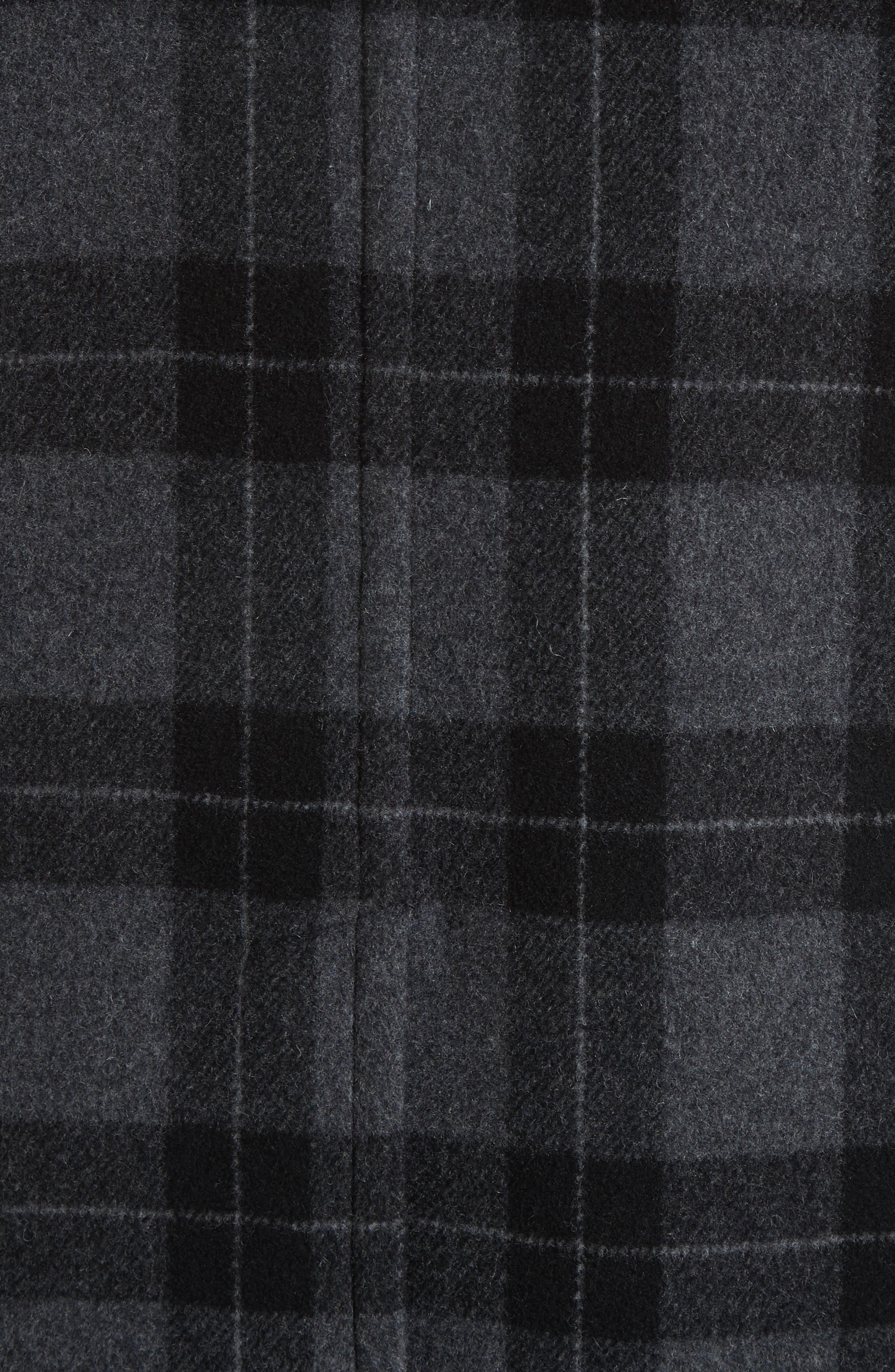 Plaid Car Coat,                             Alternate thumbnail 6, color,                             001