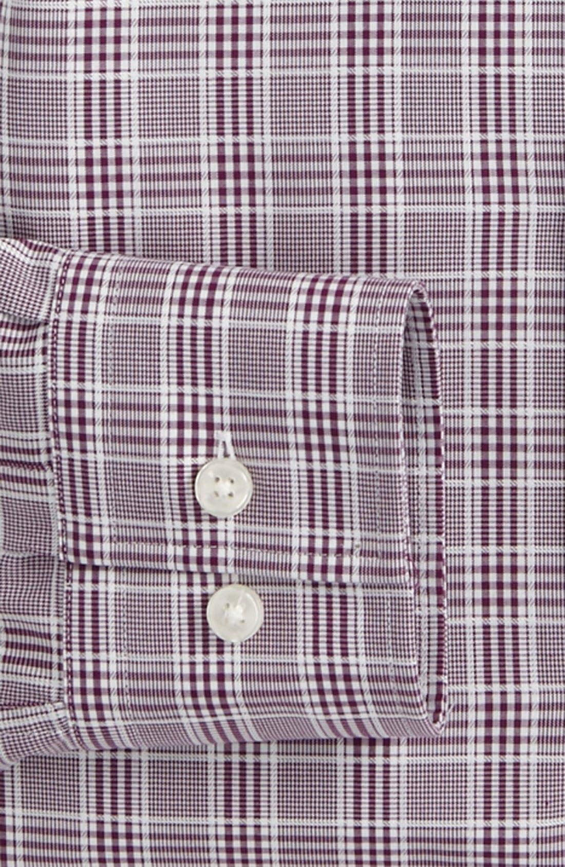 Black Slim Fit Dress Shirt,                             Alternate thumbnail 4, color,