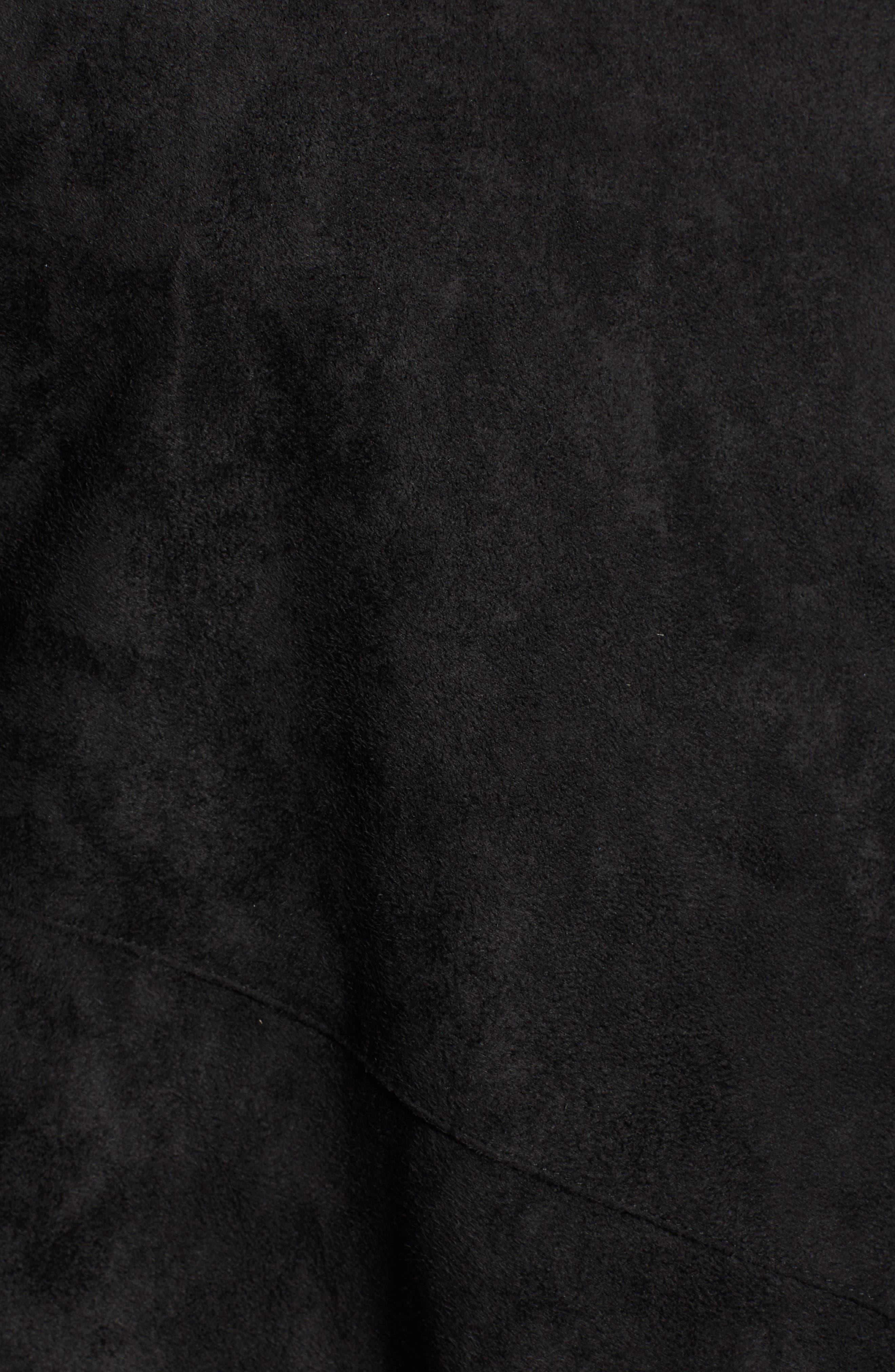 Nicholson Faux Suede Drape Front Jacket,                             Alternate thumbnail 7, color,                             001