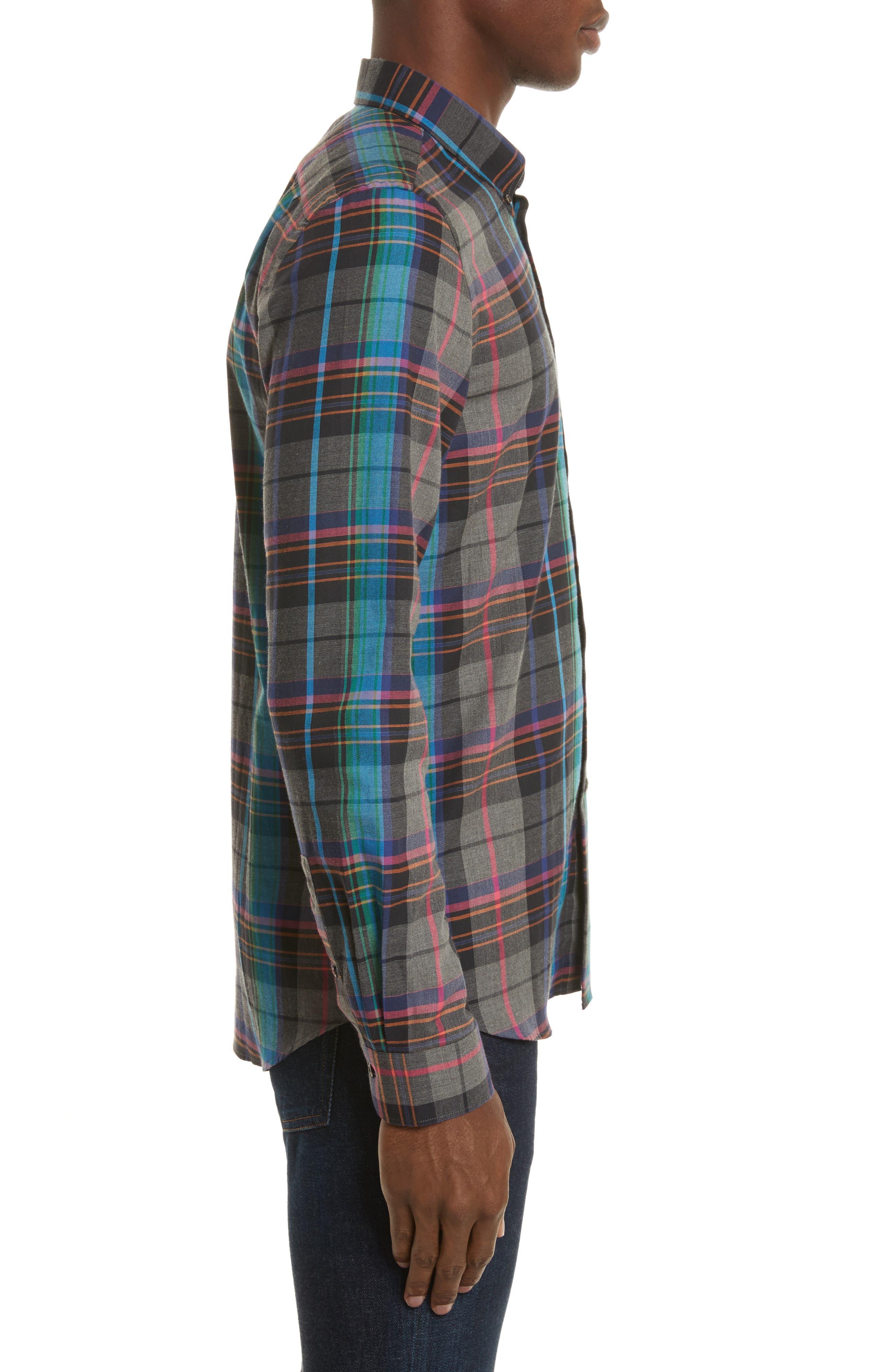 Plaid Woven Shirt,                             Alternate thumbnail 3, color,                             037