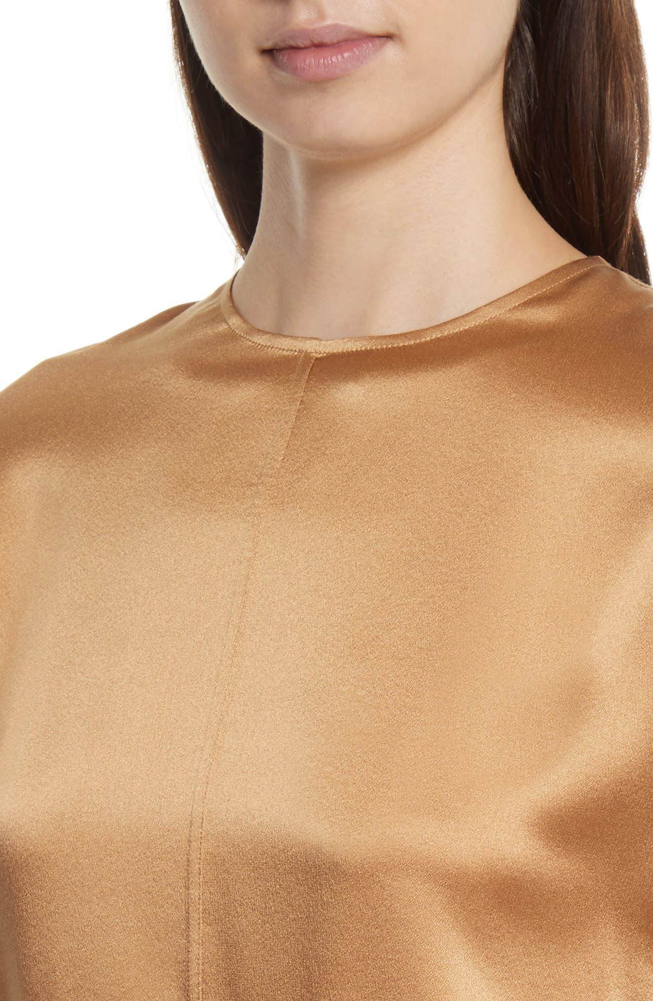 Split Back Silk Blouse,                             Alternate thumbnail 11, color,