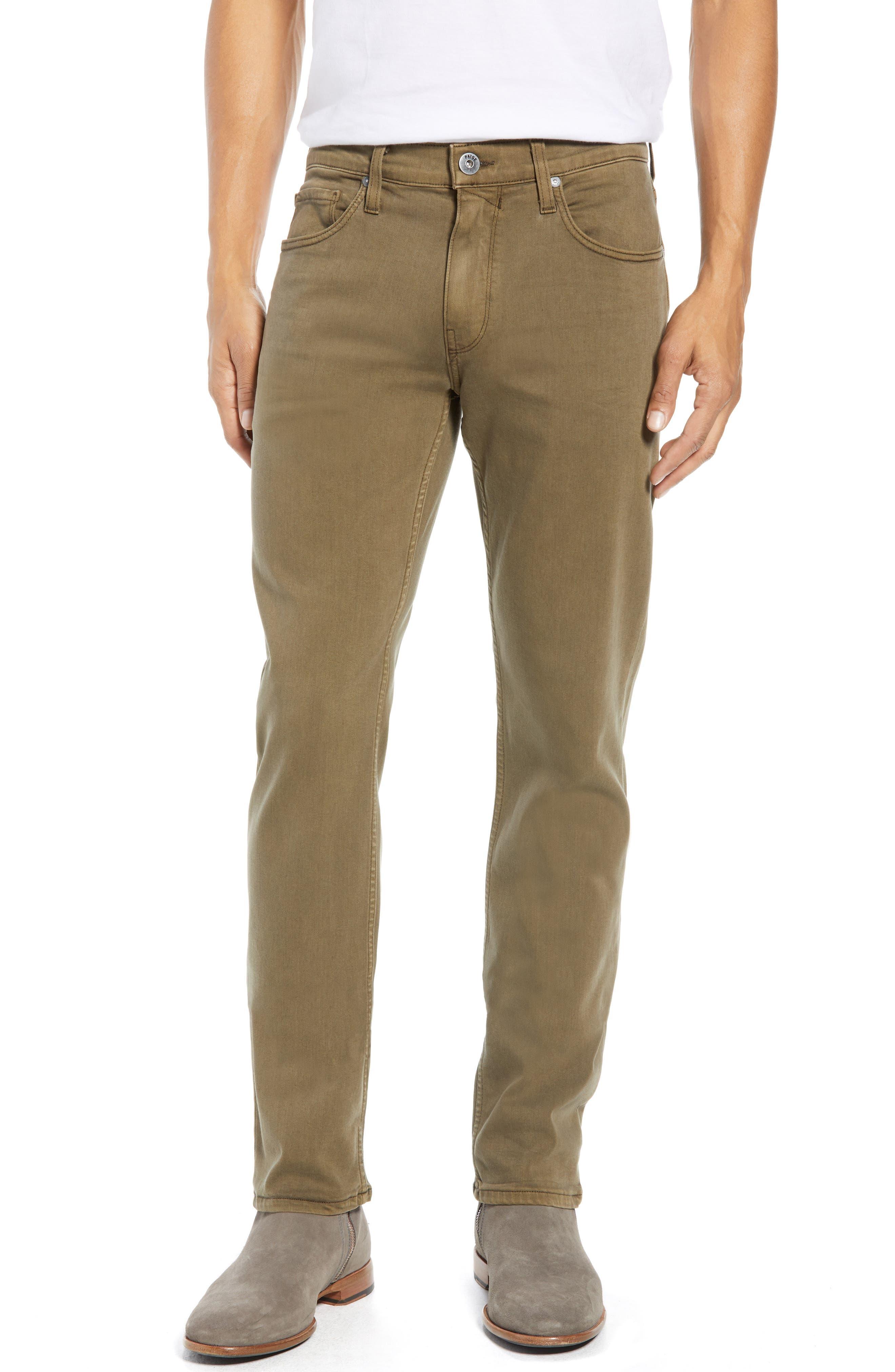 PAIGE,                             Transcend - Federal Slim Straight Leg Jeans,                             Main thumbnail 1, color,                             VINTAGE ARTICHOKE